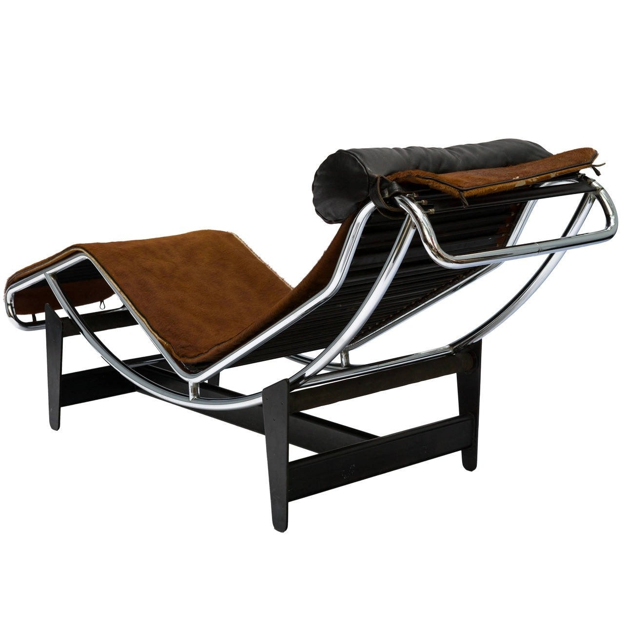 Most Recent Le Corbusier Lc4 Chaise Lounge Chair In Cowhide For Sale At 1Stdibs With Brown Chaise Lounge Chair By Le Corbusier (View 11 of 15)