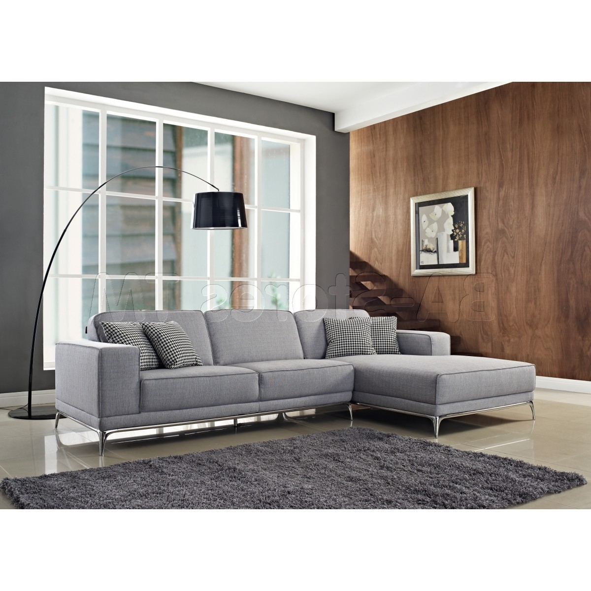 Most Recent Light Grey Sectional Sofas In Agata Sectional Sofa (View 4 of 15)