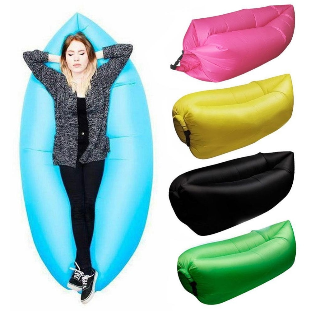 Most Recent Lounge Sleep Bag Lazy Inflatable Beanbag Sofa Chair, Living Room Throughout Lazy Sofa Chairs (View 13 of 15)