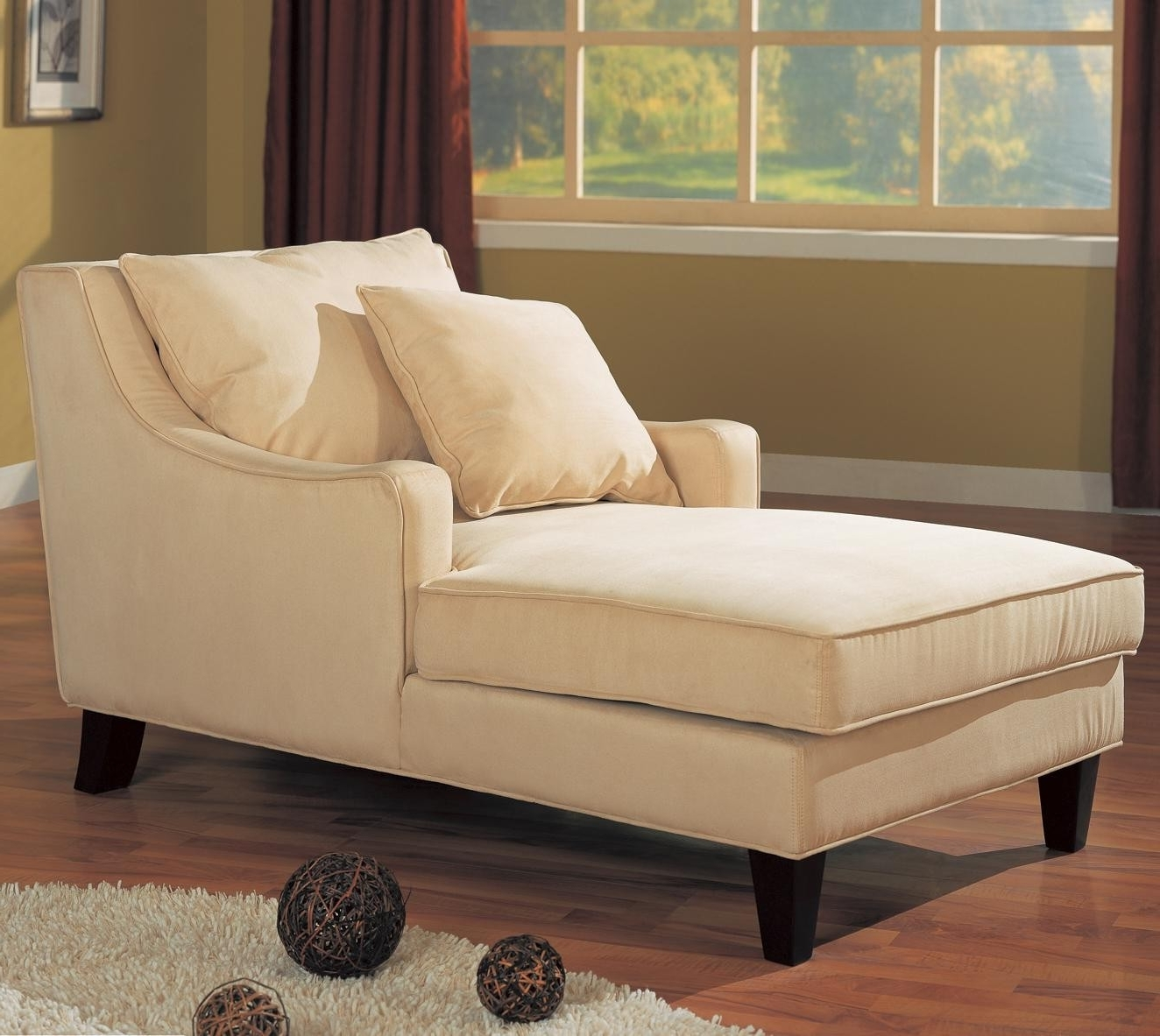 Most Recent Microfiber Chaises Pertaining To Accent Seating Microfiber Chaise Lounge Lowest Price – Sofa (View 13 of 15)