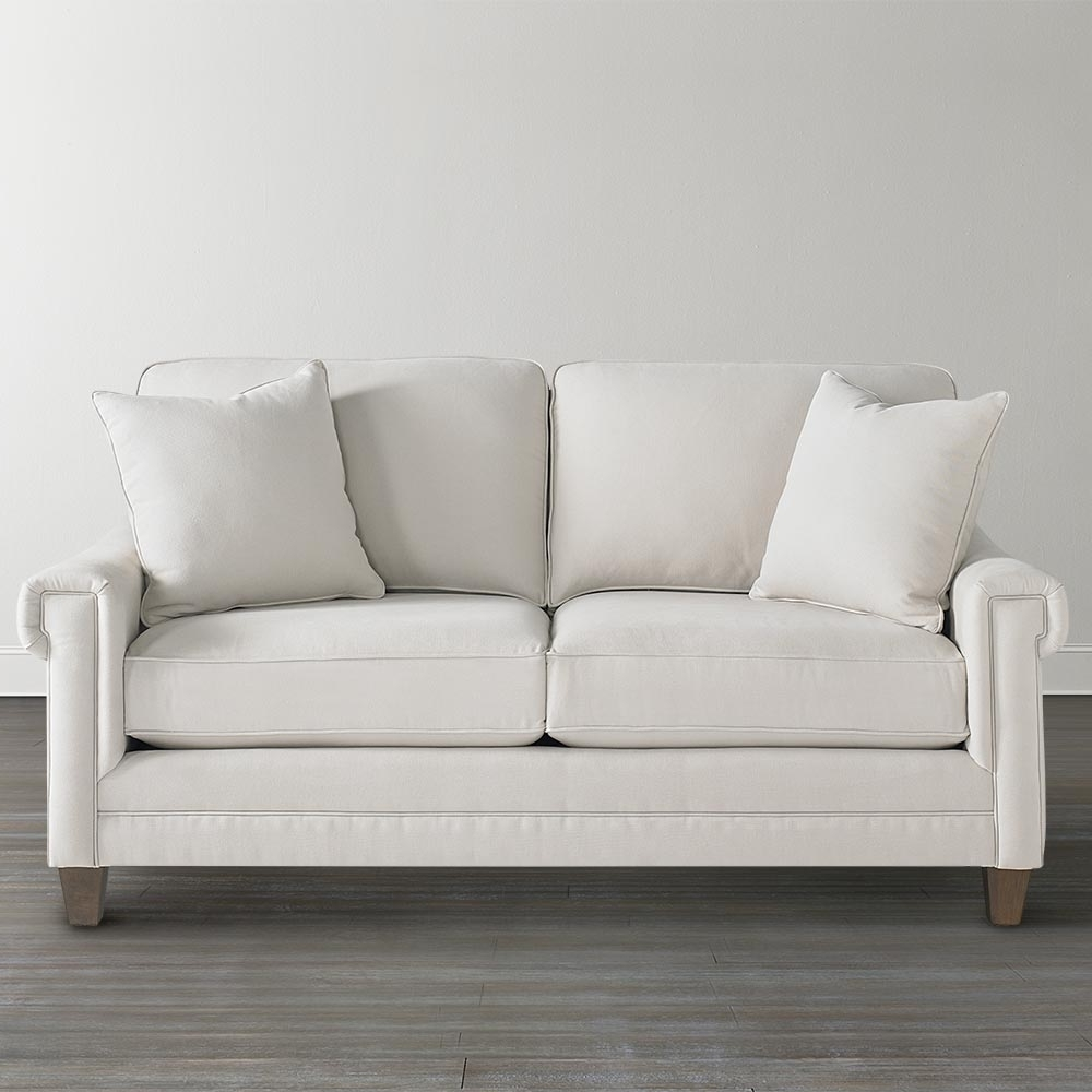 Most Recent Off White Custom Upholstered Studio Sofa Throughout Small Sofas And Chairs (View 9 of 15)