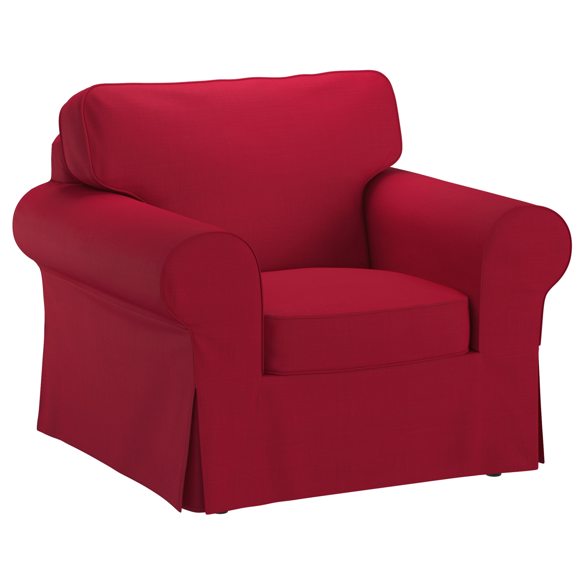 Most Recent Red Sofa Chairs Regarding Ektorp Armchair – Nordvalla Dark Gray – Ikea (View 5 of 15)