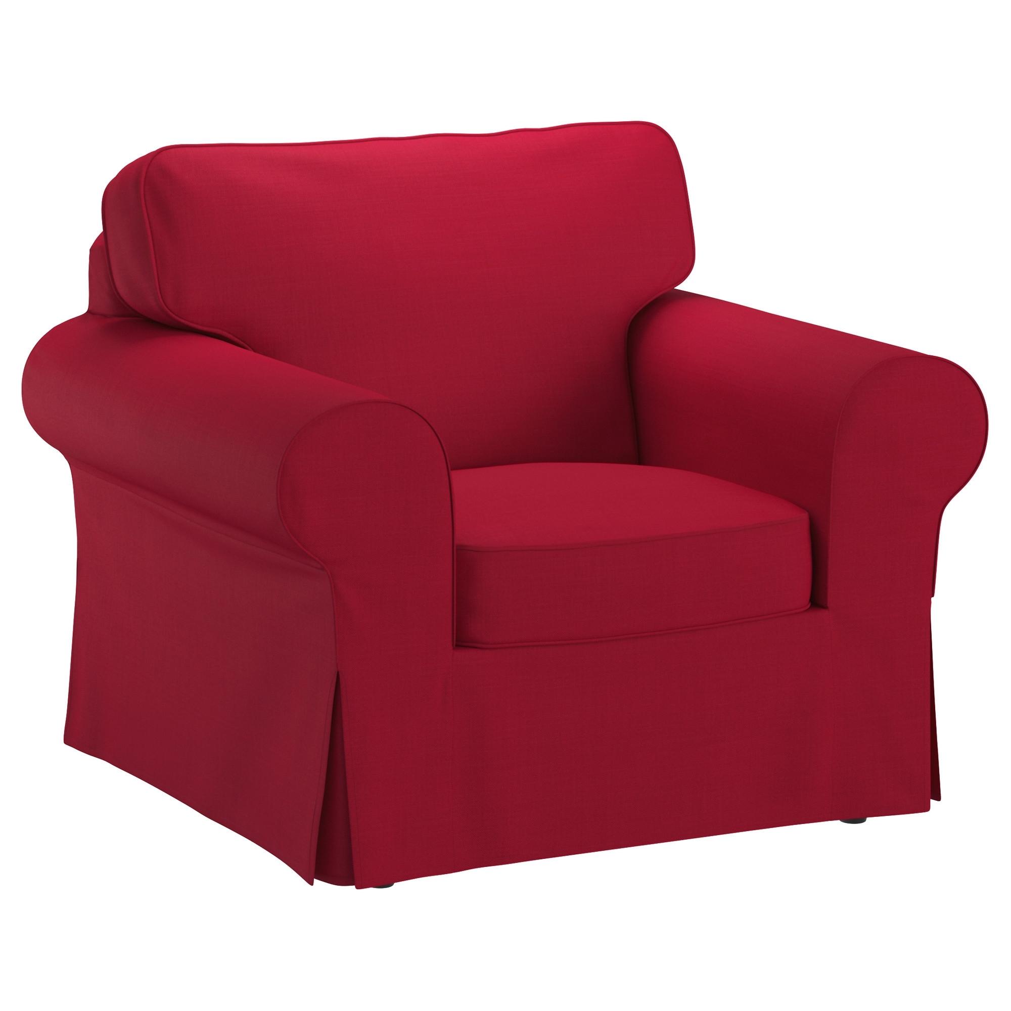 Most Recent Red Sofa Chairs Regarding Ektorp Armchair – Nordvalla Dark Gray – Ikea (View 6 of 15)