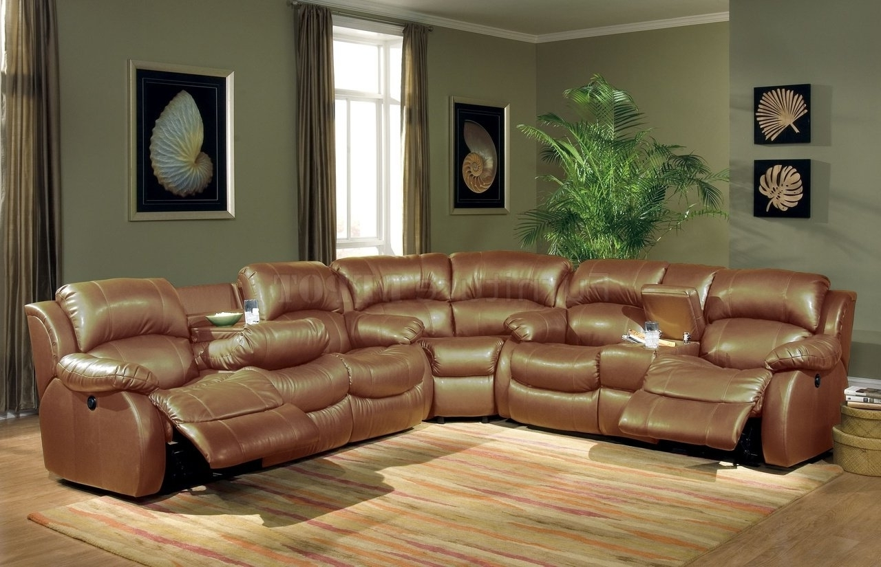 Most Recent Sectional Sofa Design: Elegant Leather Sectional Reclining Sofa Regarding Leather Motion Sectional Sofas (View 10 of 15)
