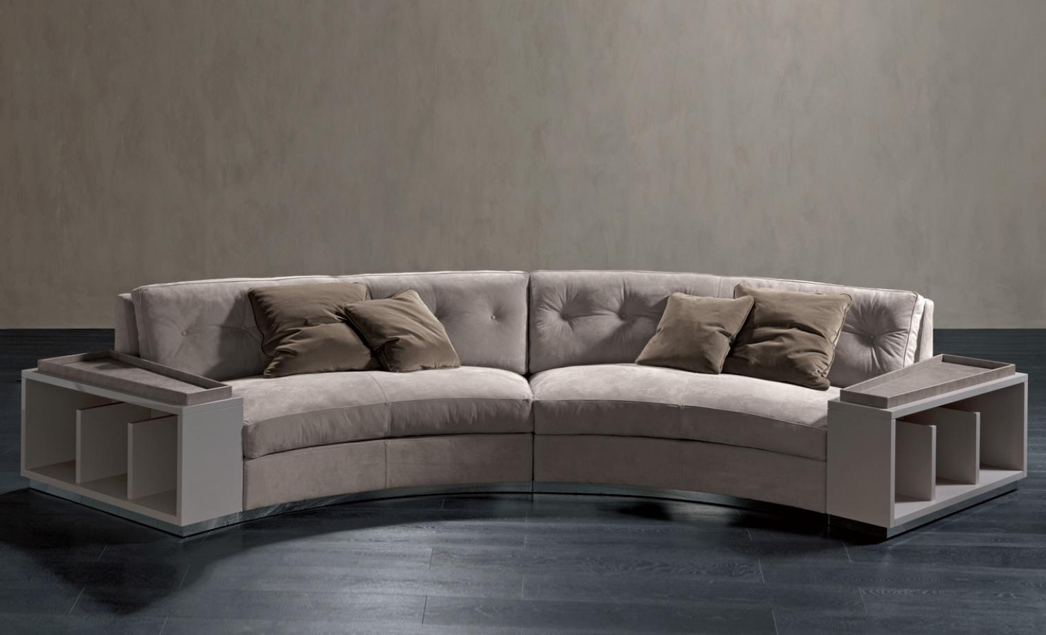 Most Recent Semicircular Sofas throughout Semi-Circular Sofa In Leather Circus, Rugiano - Luxury Furniture Mr
