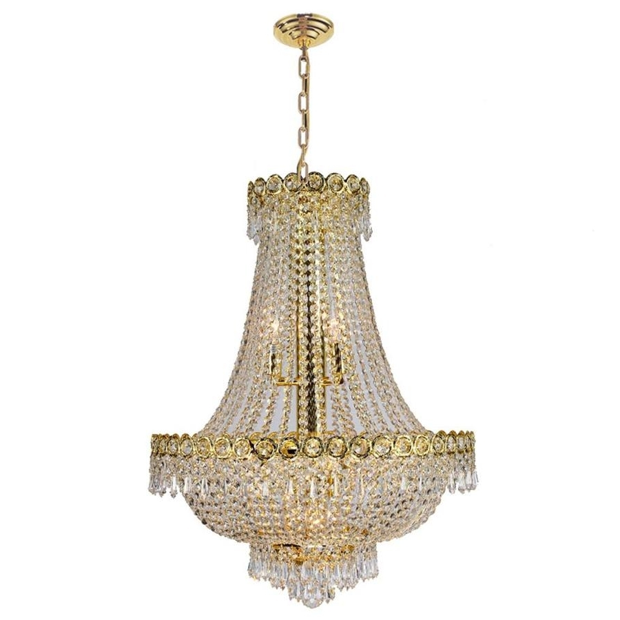 Most Recent Shop Worldwide Lighting Empire 20 In 12 Light Polished Gold Crystal For Crystal Gold Chandelier (View 13 of 15)