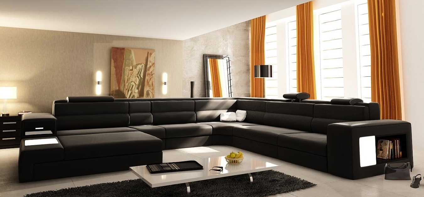 Most Recent Small U Shaped Sectional Sofas intended for Small U Shaped Couch : Mtc Home Design - Appealing U Shaped