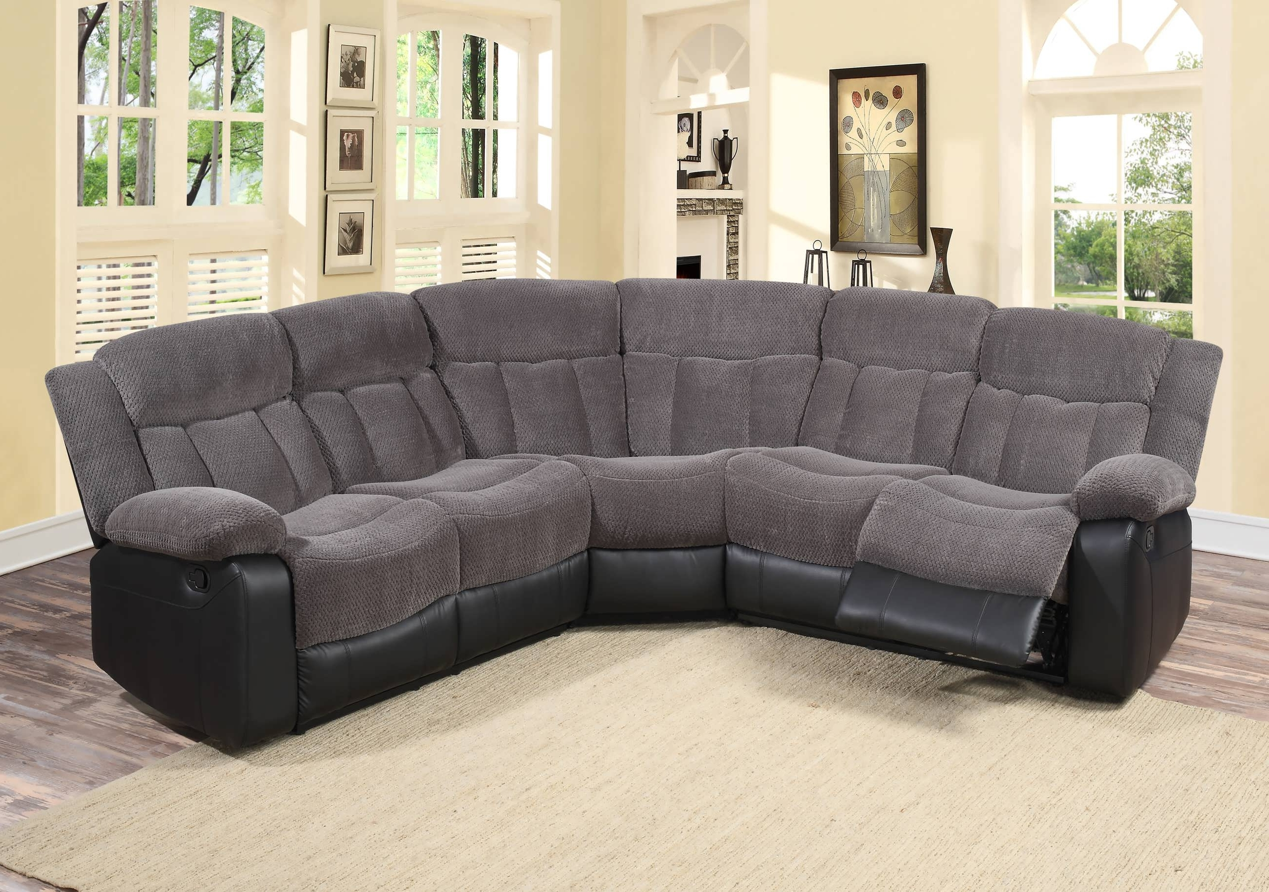Most Recent Sofa : U Shaped Sectional Leather Sectionals For Sale Cheap For Reclining Sectionals With Chaise (View 4 of 15)
