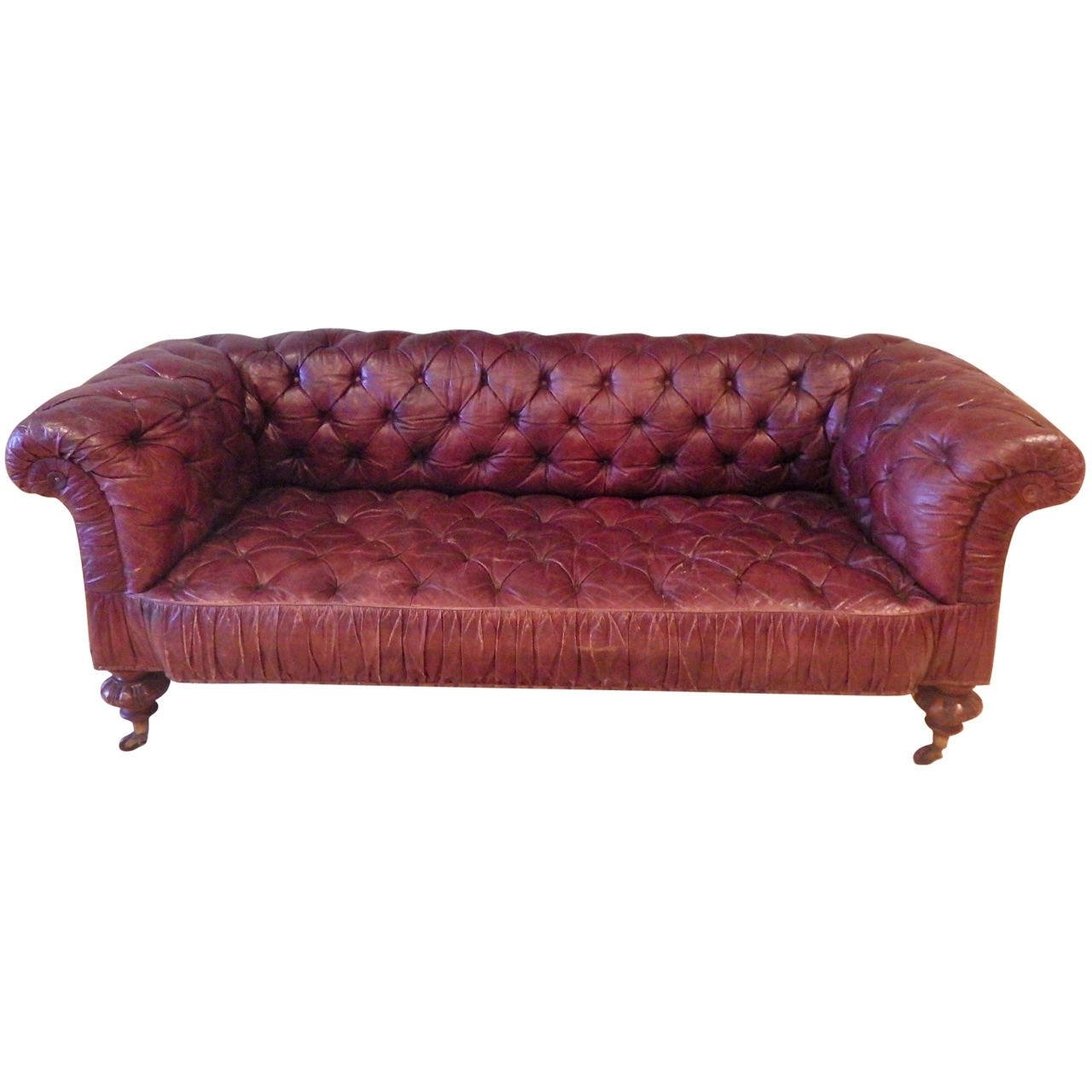 Most Recent Superb Victorian Leather Sofa, Circa 1870 For Sale At 1Stdibs With Regard To Victorian Leather Sofas (View 7 of 15)