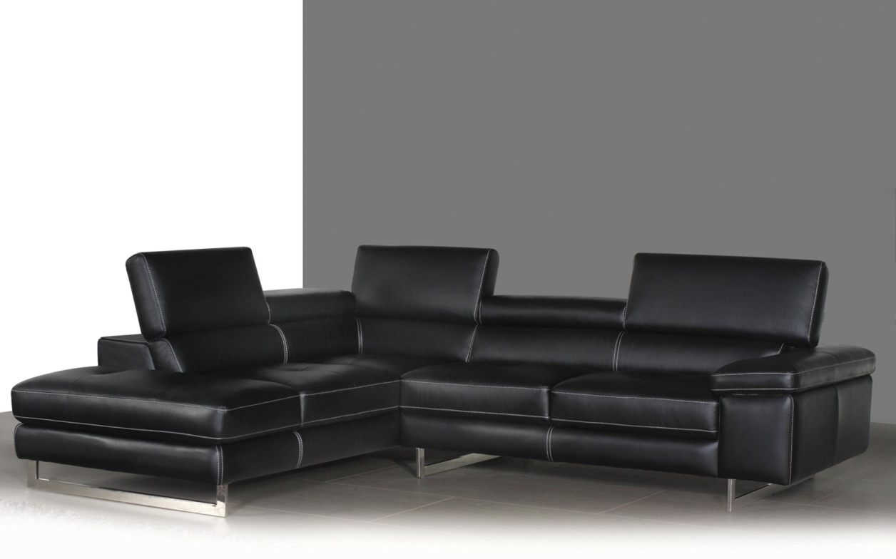 Most Recent Syncro Leather Sectional Sofa – Titanium Grey (View 5 of 15)