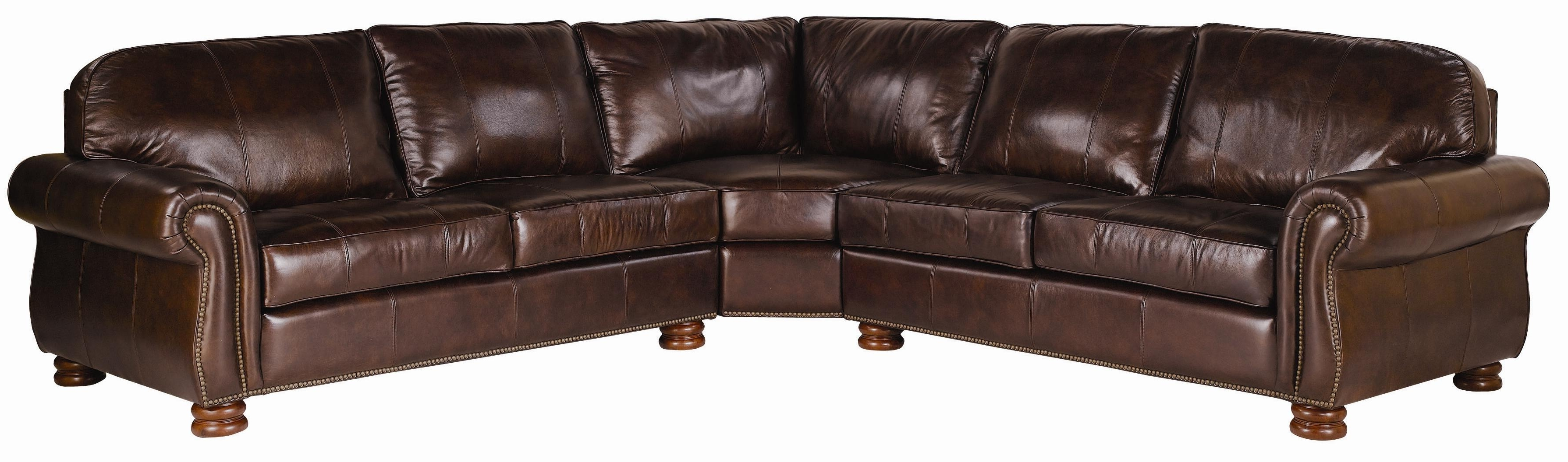 Most Recent Thomasville® Leather Choices – Benjamin Leather Select 3 Piece Inside Thomasville Sectional Sofas (View 7 of 15)