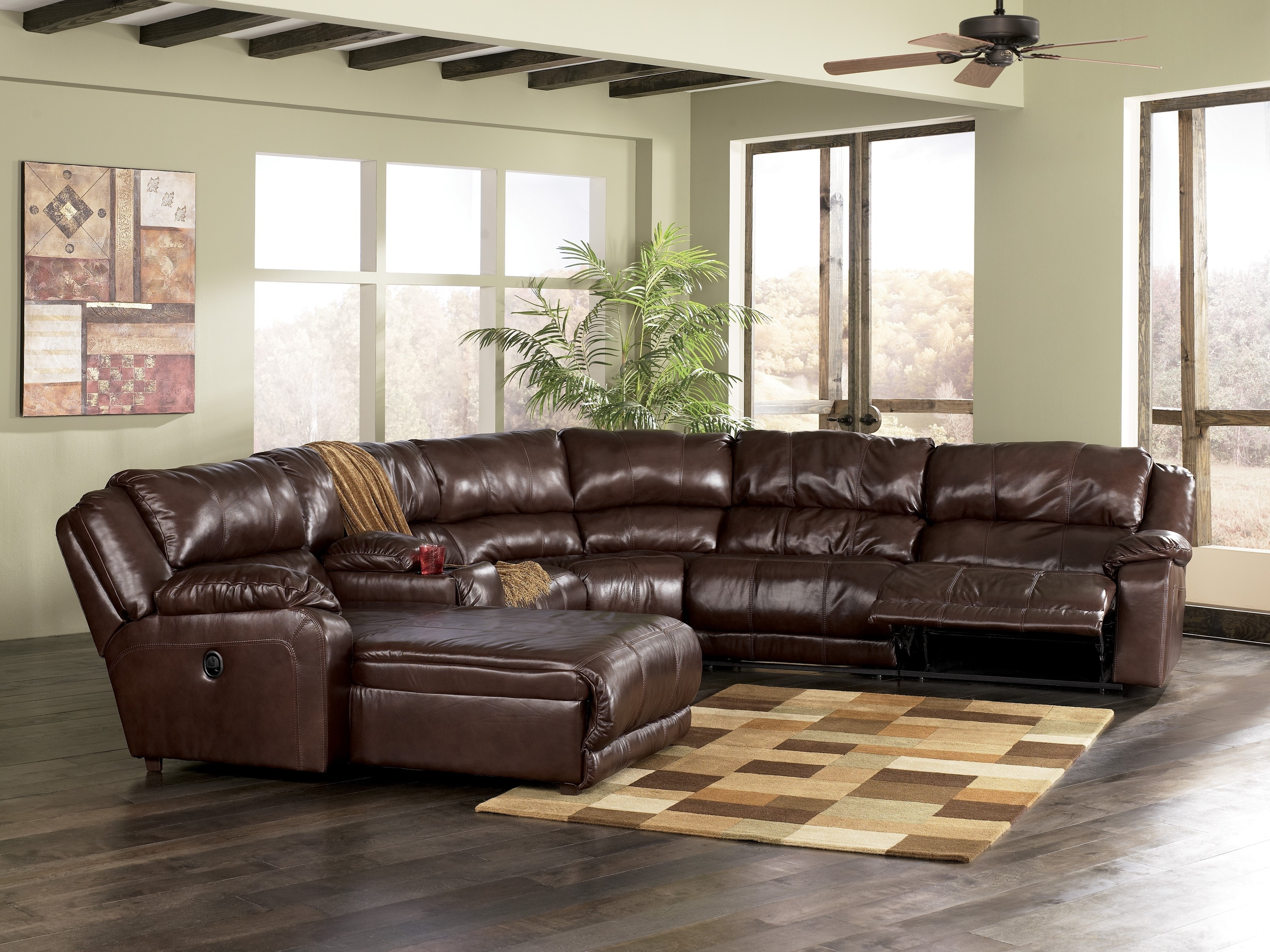 Most Recent Trend L Shaped Sectional Sofa With Recliner 97 In Large Leather Within Leather L Shaped Sectional Sofas (View 13 of 15)