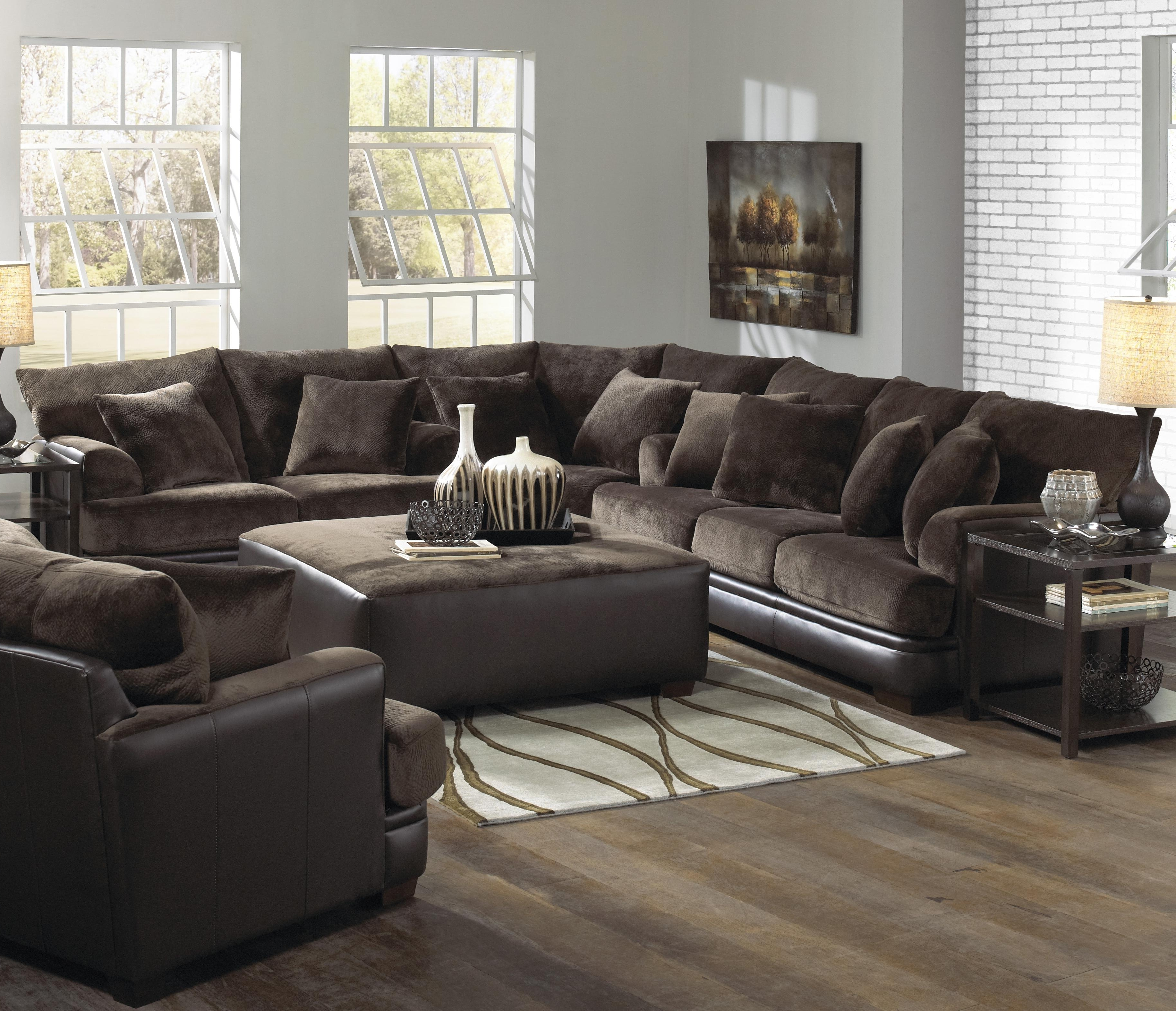 Most Recent U Shaped Leather Sectional Sofas Inside Sofa : Fabric Sectional Leather Sectional U Shaped Sectional With (View 7 of 15)