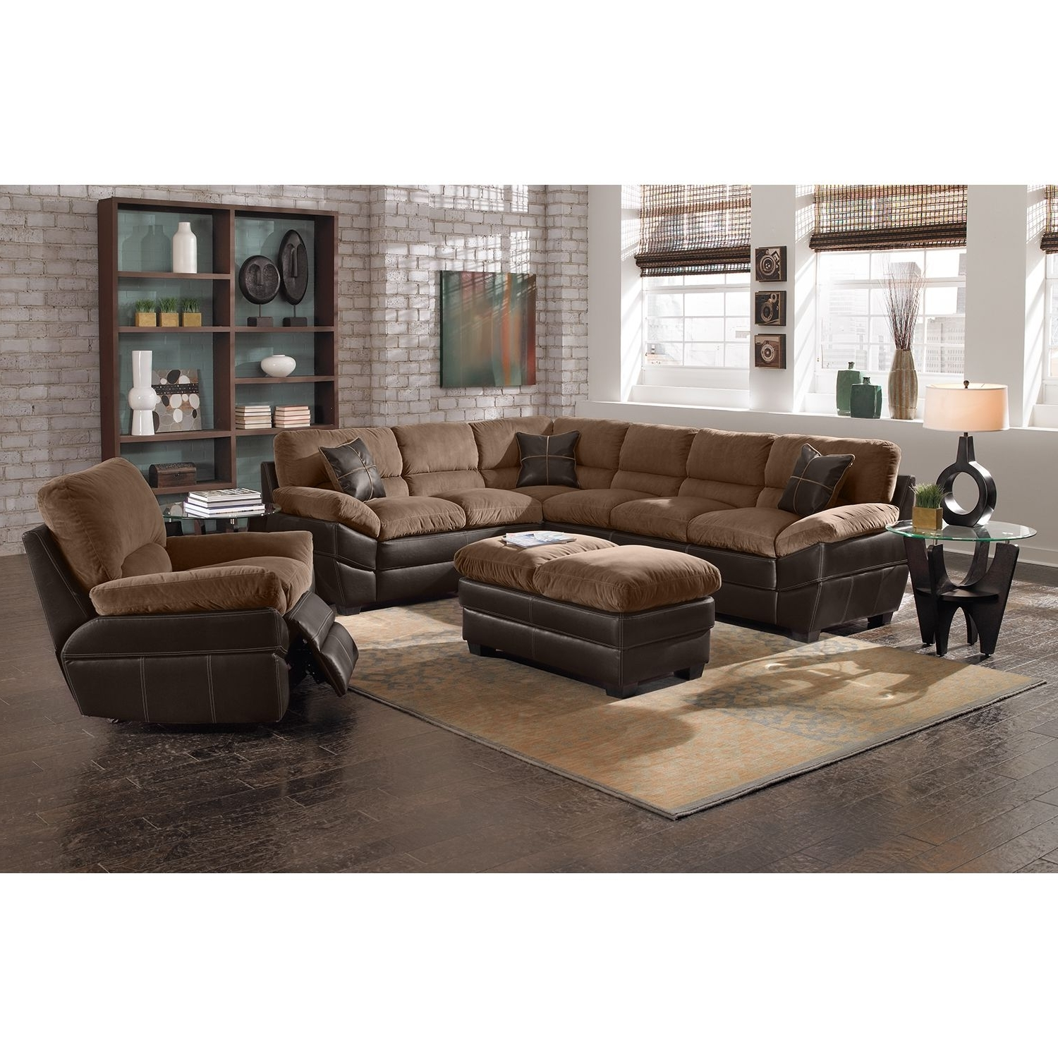 Most Recent Value City Sectional Sofas In Chandler Upholstery 2 Pc (View 6 of 15)