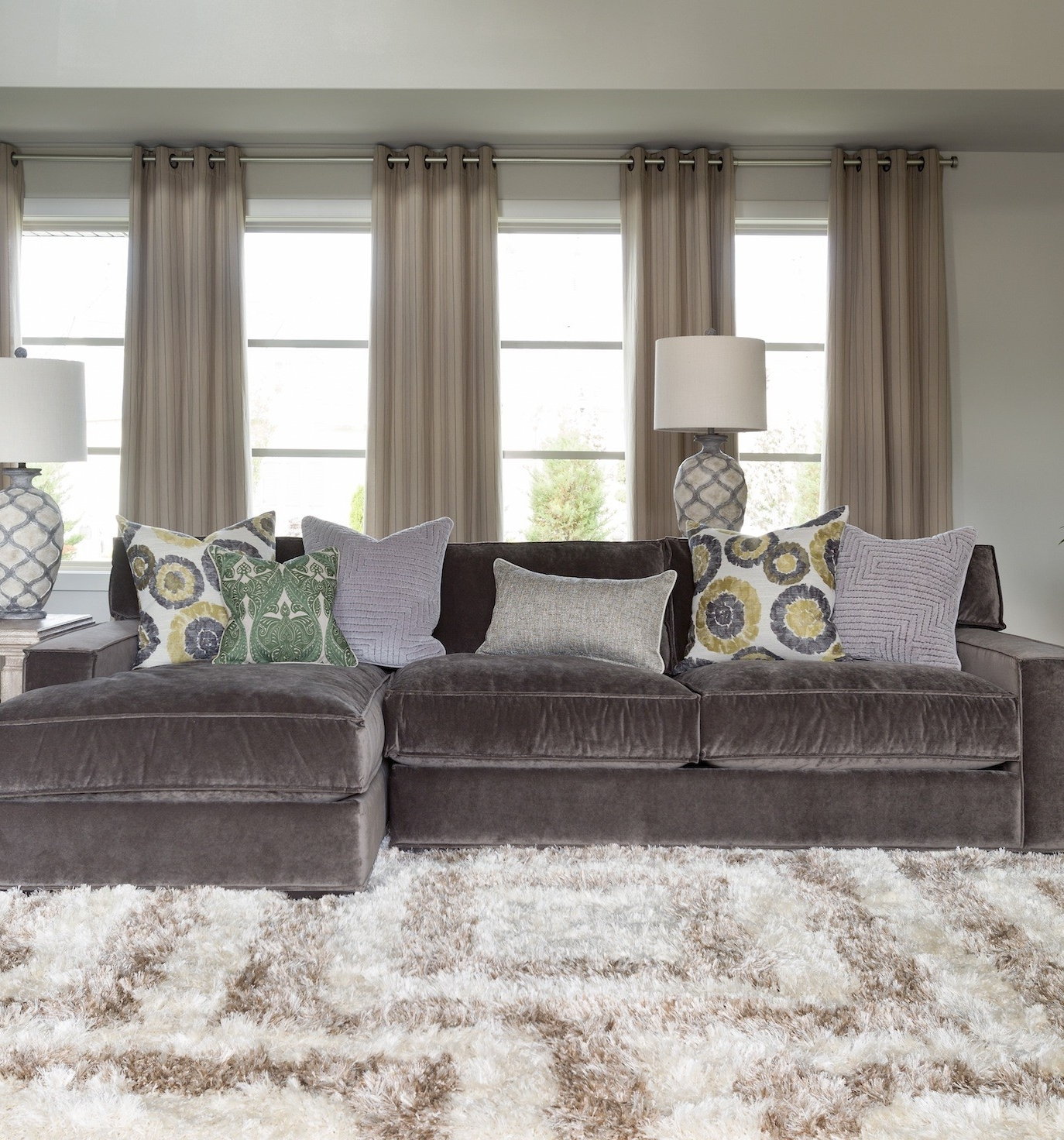 Most Recent Velvet Sectional Sofas With Regard To Interior: Gray Couches Living Room Be Equipped With Gray Velvet (View 3 of 15)