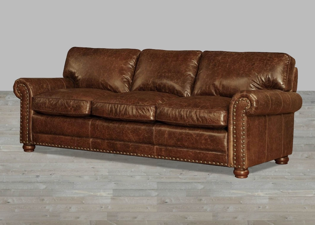 Most Recent Vintage Sofas Within Coco Brompton Leather Vintage Sofa (View 7 of 15)