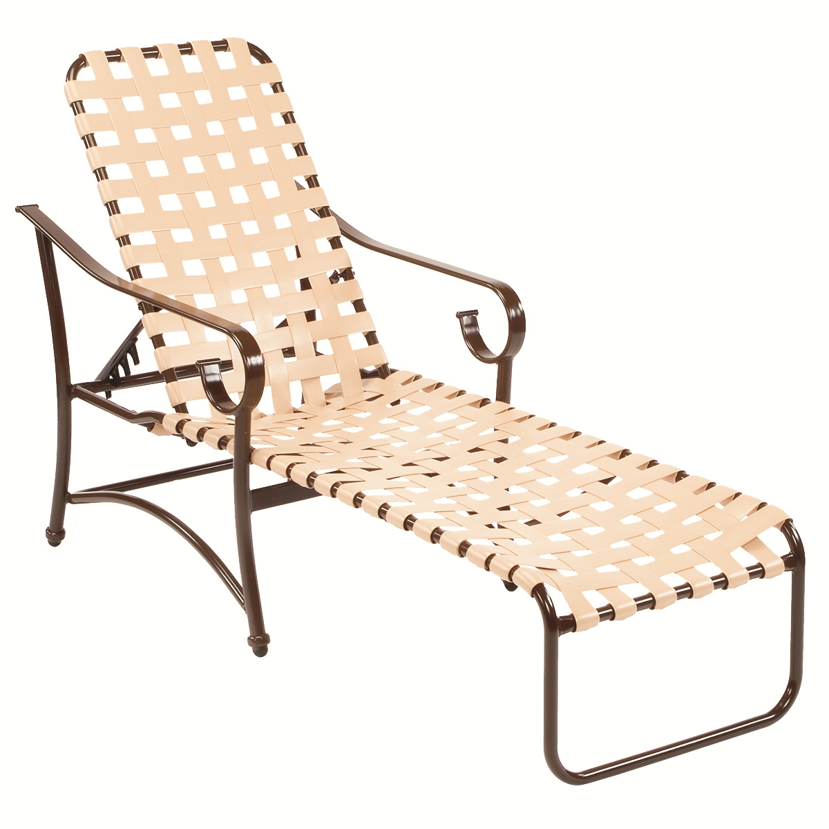Most Recent Vinyl Strap Chaise Lounge Chairs With Regard To 16 In (View 9 of 15)