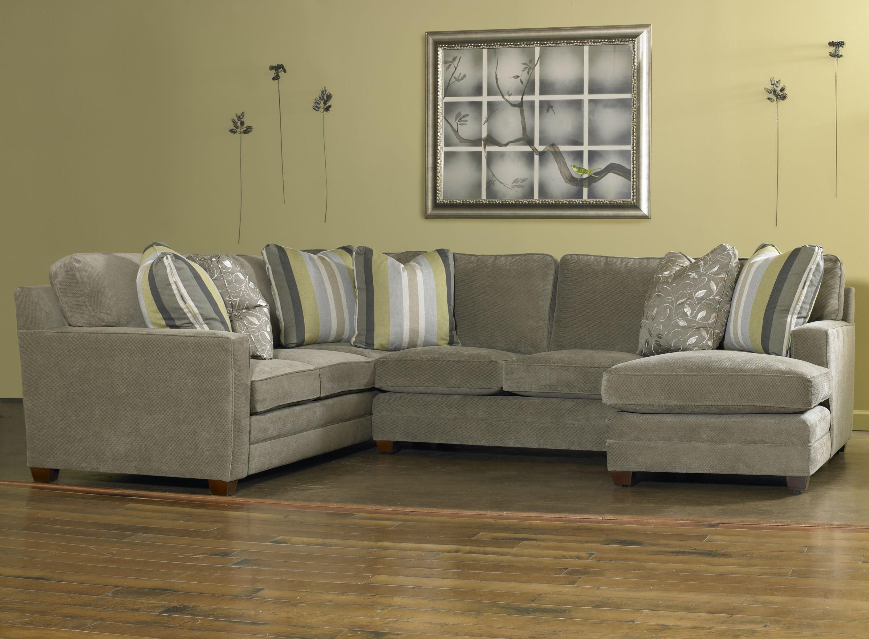 Most Recent Visalia Ca Sectional Sofas Throughout Sam Moore Ricky Contemporary Three Piece Sectional Sofa W/ Laf (View 11 of 15)