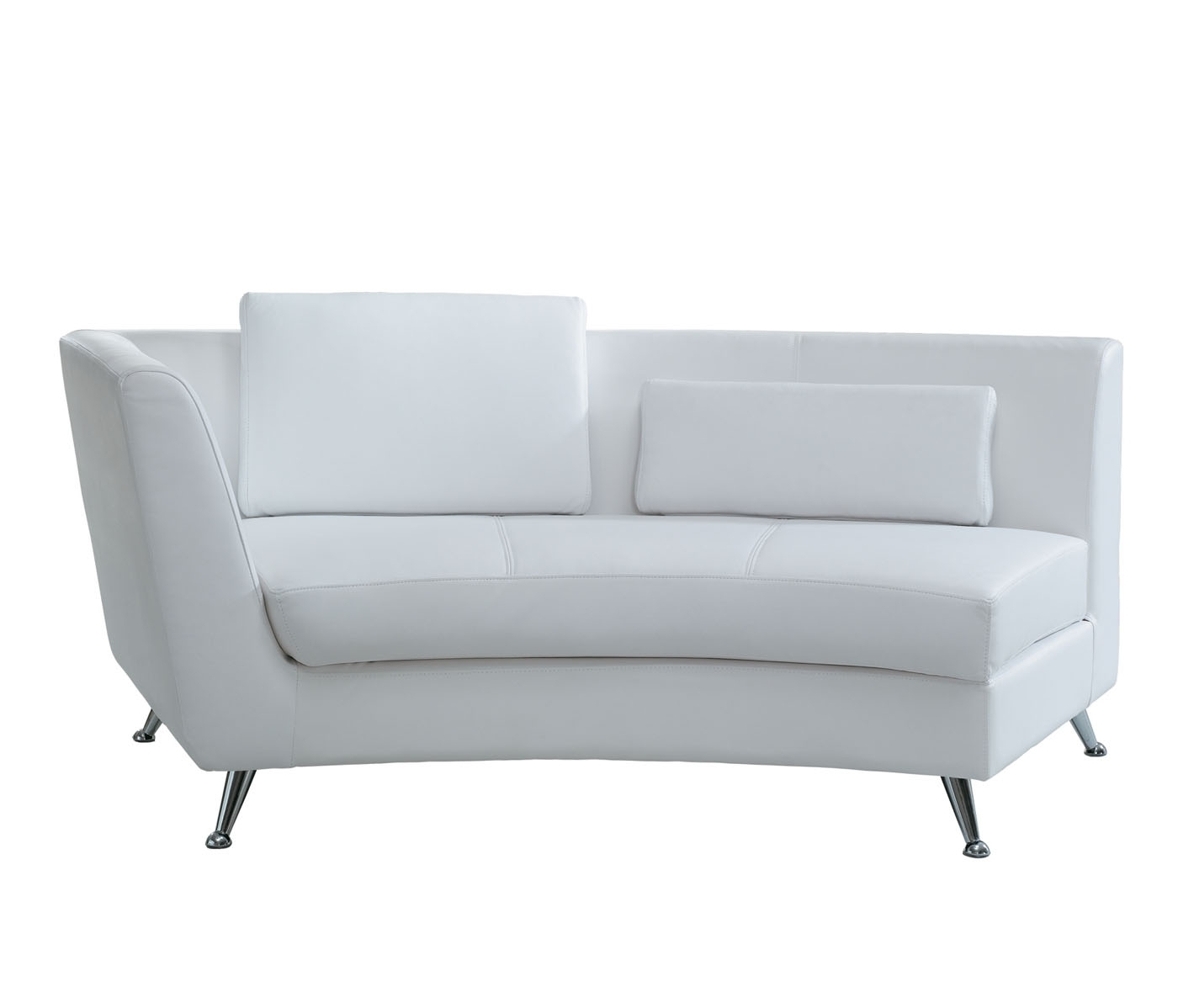 Most Recent White Leather Chaise Lounges Throughout Decoration In White Leather Chaise Lounge With White Leather (View 11 of 15)