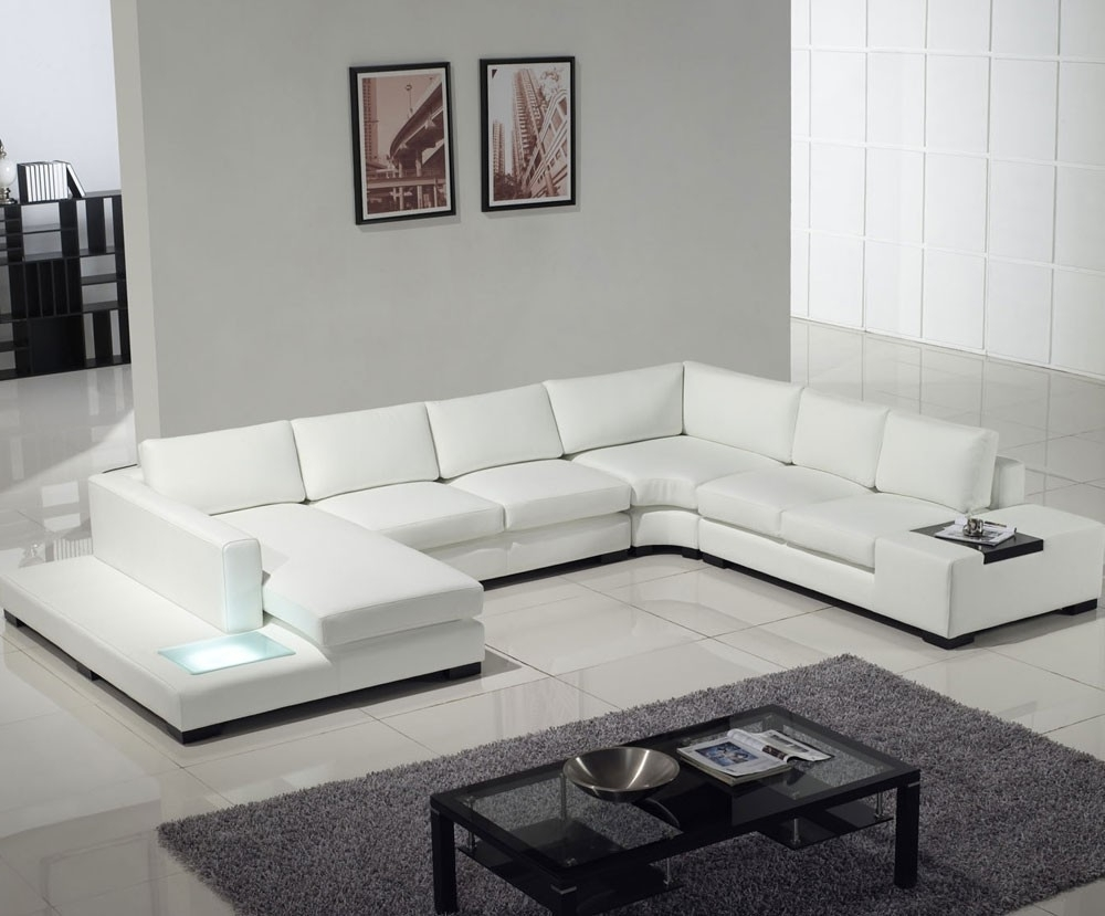 Most Recent White Modern Sofas With White Contemporary Sofa Sets : Modern Contemporary Sofa Sets – All (View 7 of 15)
