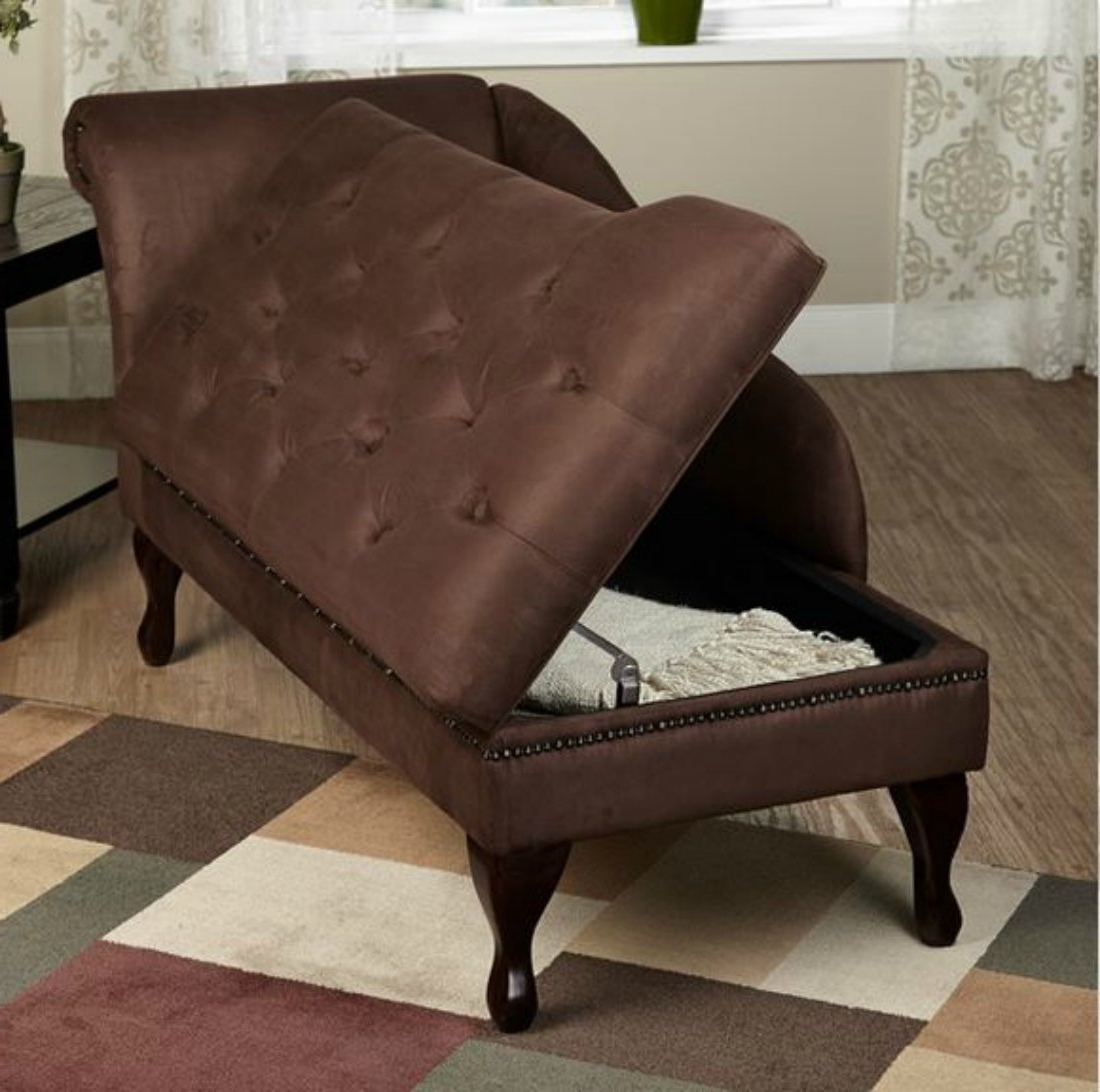 Most Recently Released Amazon: Modern Storage Chaise Lounge Chair – This Tufted Regarding Chaise Lounge Chairs With Storage (View 11 of 15)
