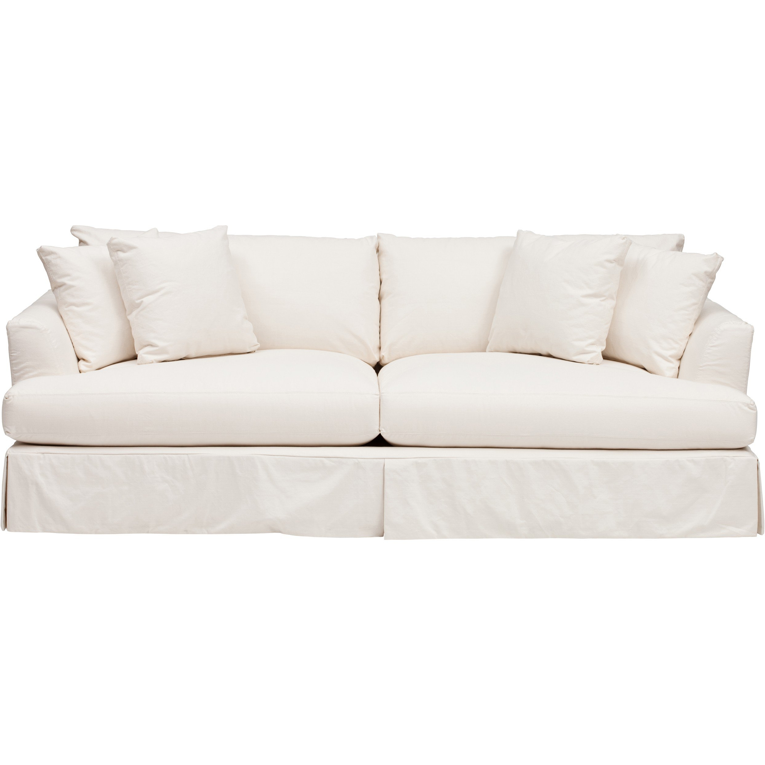 Most Recently Released Andre Slipcover Sofa, Dyno White – Sofas – Custom Upholstery For White Sofa Chairs (View 7 of 15)