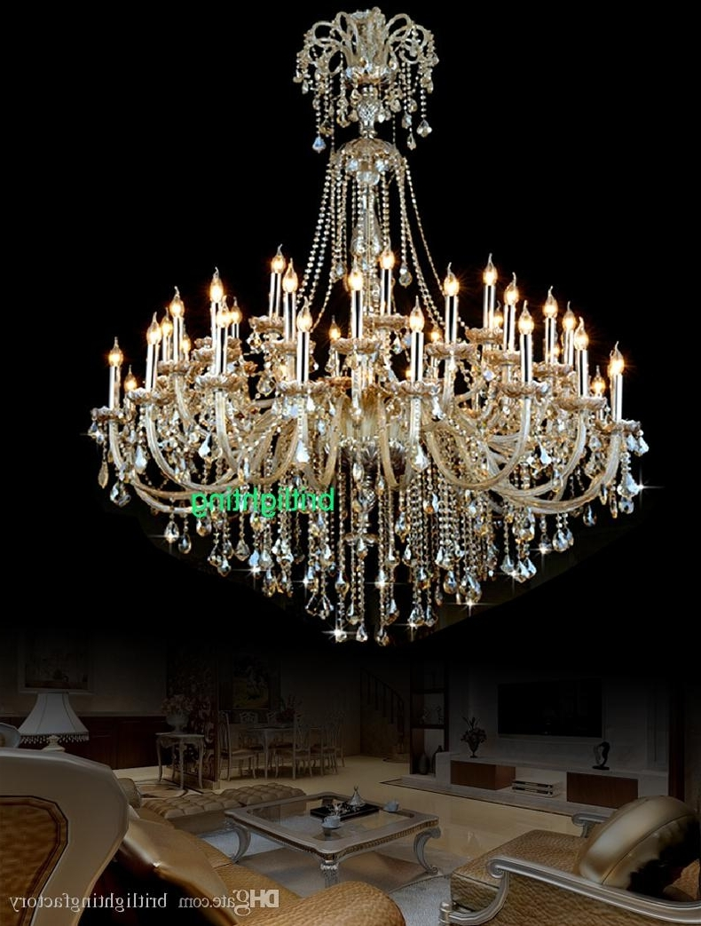 Most Recently Released Big Chandeliers Intended For Extra Large Crystal Chandelier Lighting Entryway High Ceiling (View 9 of 15)