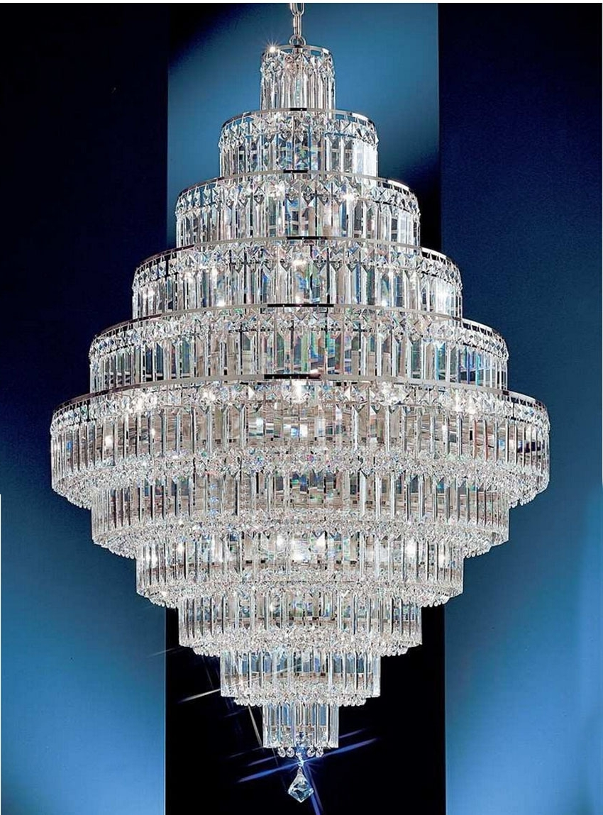 Most Recently Released Big Crystal Chandelier Within Chandeliers Design : Marvelous Large Font Crystal Chandeliers Modern (View 7 of 15)