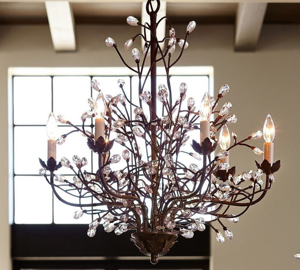 Most Recently Released Branch Chandeliers In Chandeliers : Cheyenne Crystal Branch Chandelier Contemporary (View 10 of 15)