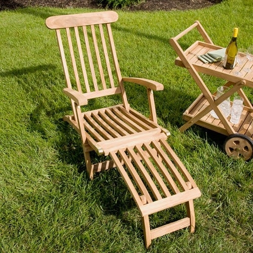 Most Recently Released Callista Teak Outdoor Folding Steamer Lounge Chair – Outdoor In Teak Chaise Lounge Chairs (View 6 of 15)