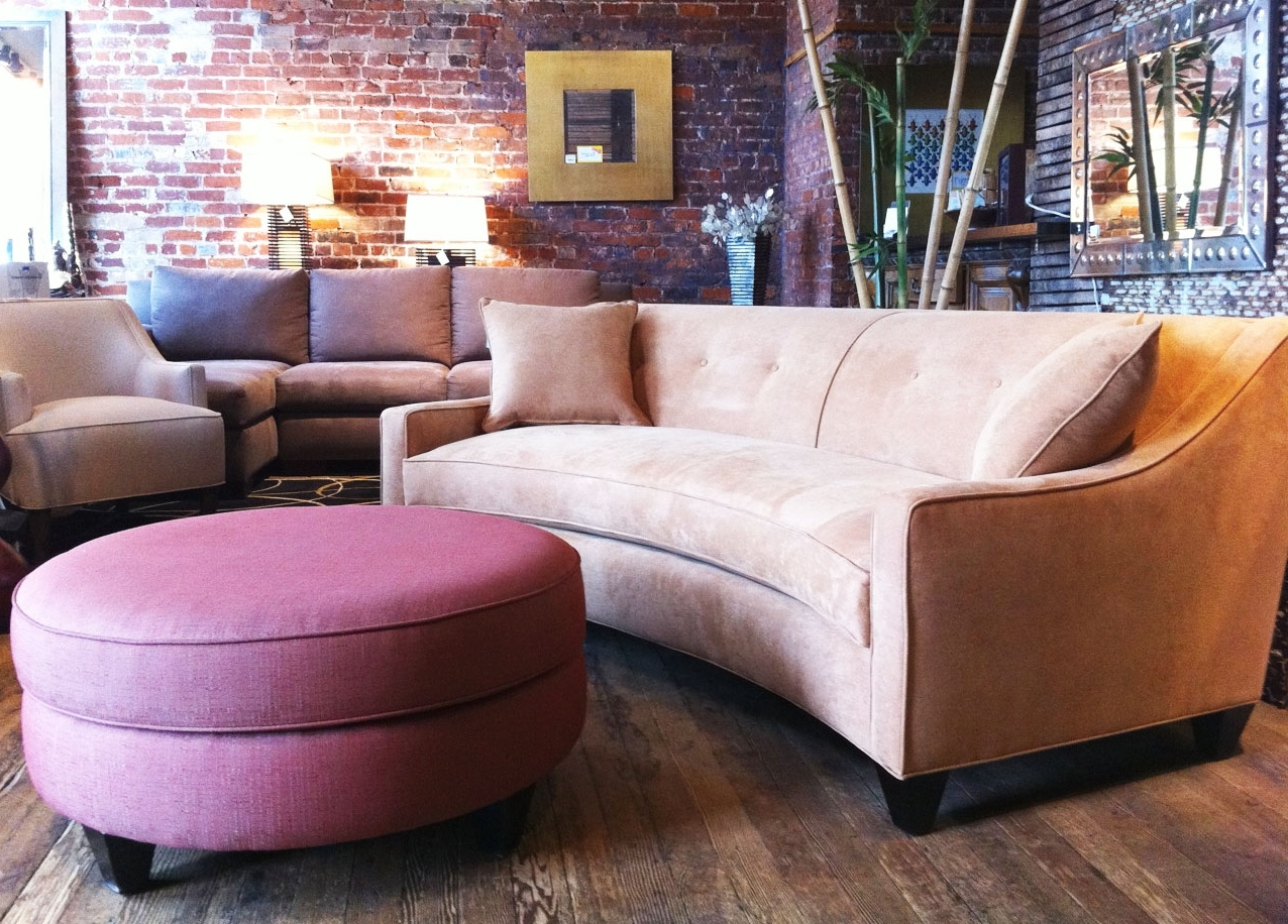 Most Recently Released Canada Sectional Sofas For Small Spaces With Regard To Small Curved Sectional Sofa Design For Small Space And Round (View 4 of 15)