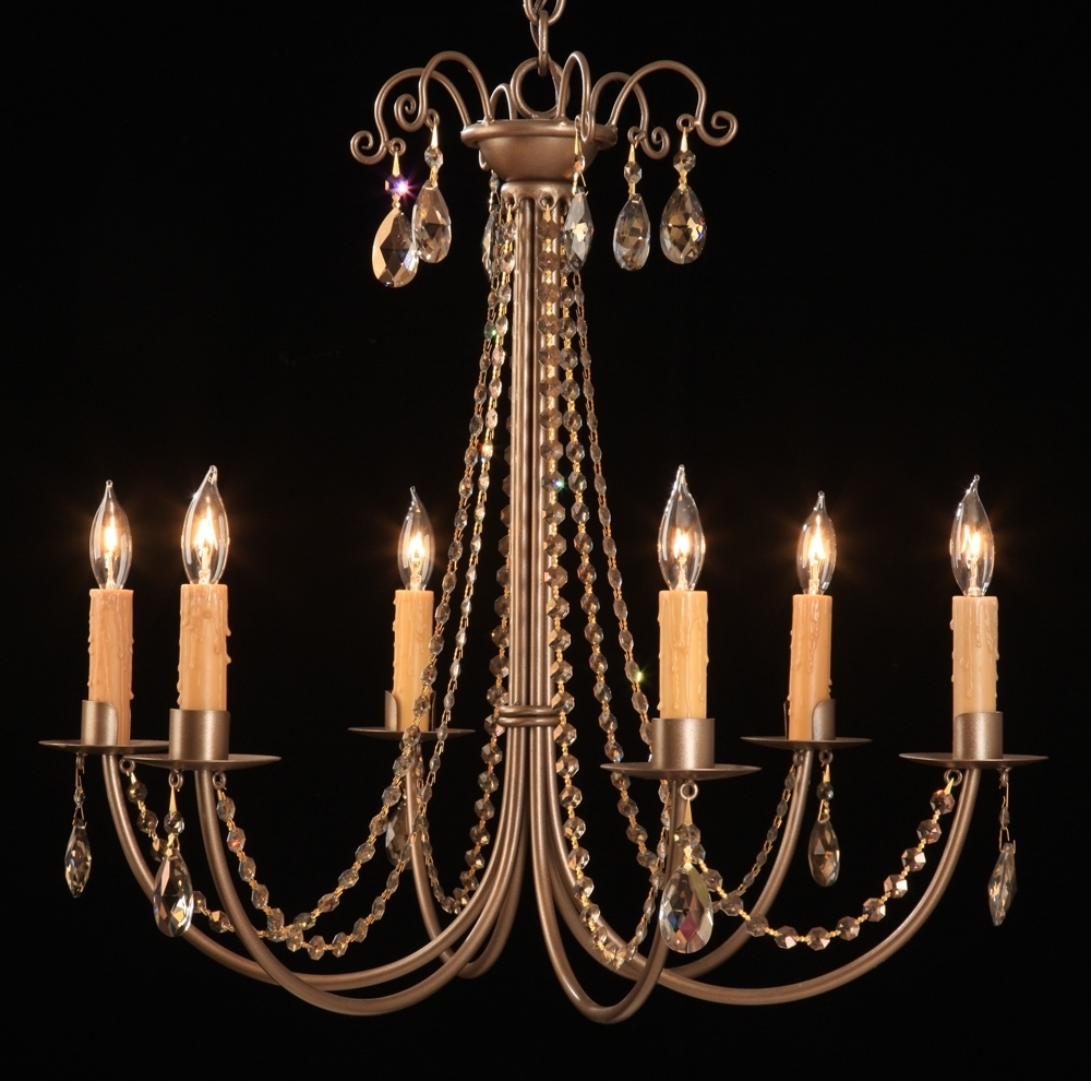 Most Recently Released Candle Chandelier Pertaining To Steel 2251 Crystal Sierra 6 Candle Chandelier (View 10 of 15)