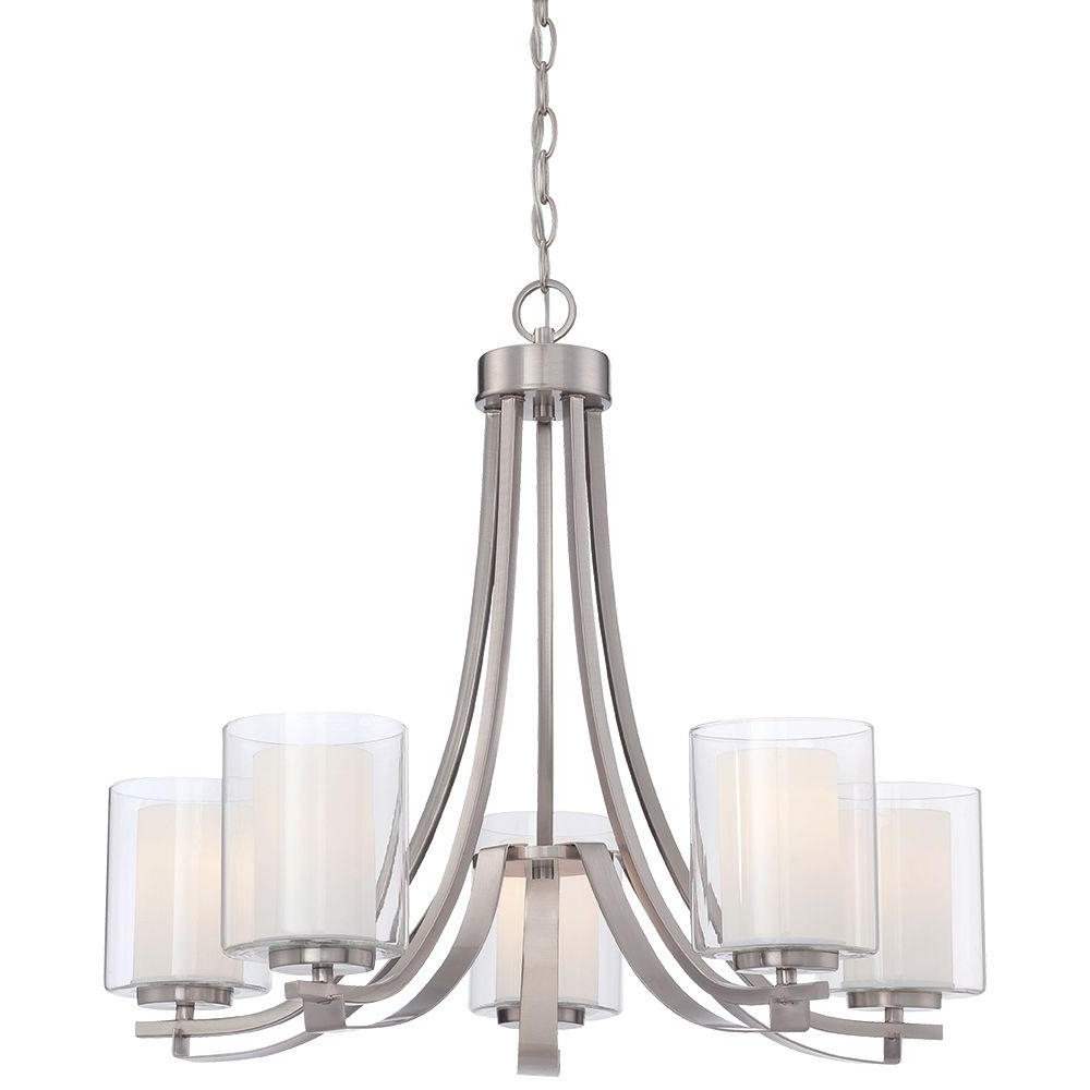 Most Recently Released Candle Light Chandelier Inside Minka Lavery Parsons Studio 5 Light Smoked Iron Chandelier 4105 (View 4 of 15)