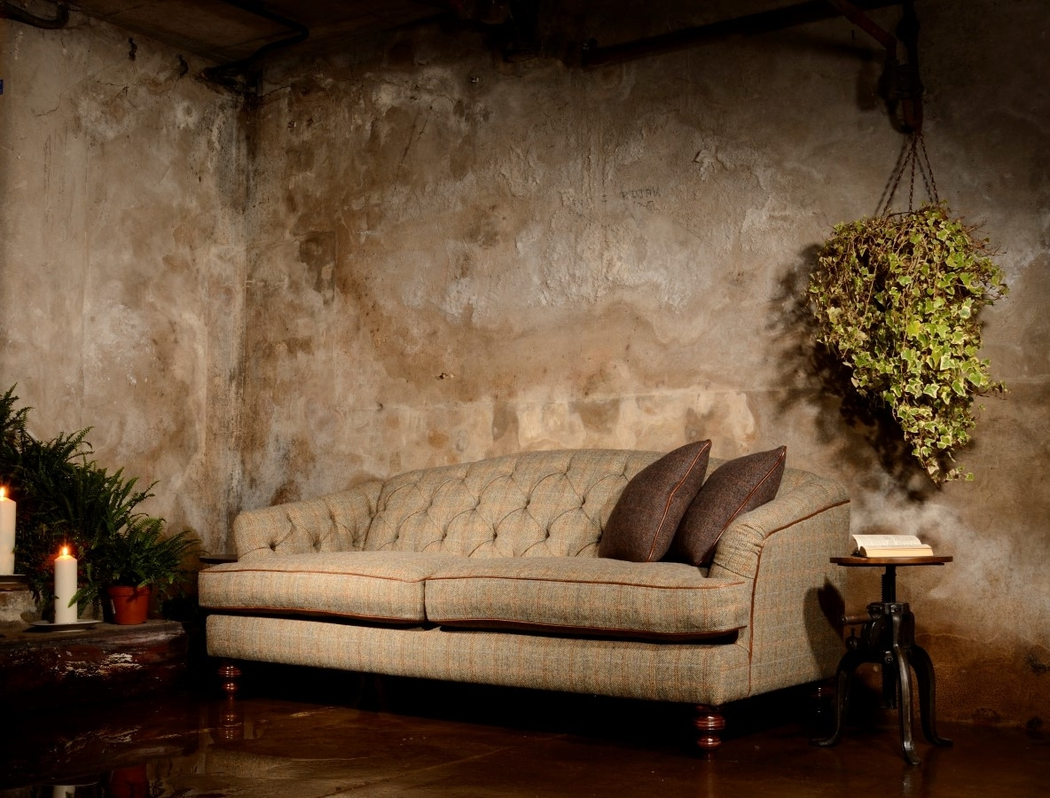 Most Recently Released Dalmore Harris Tweed Midi Fabric Sofa – Lpc Furniture For Tweed Fabric Sofas (View 6 of 15)