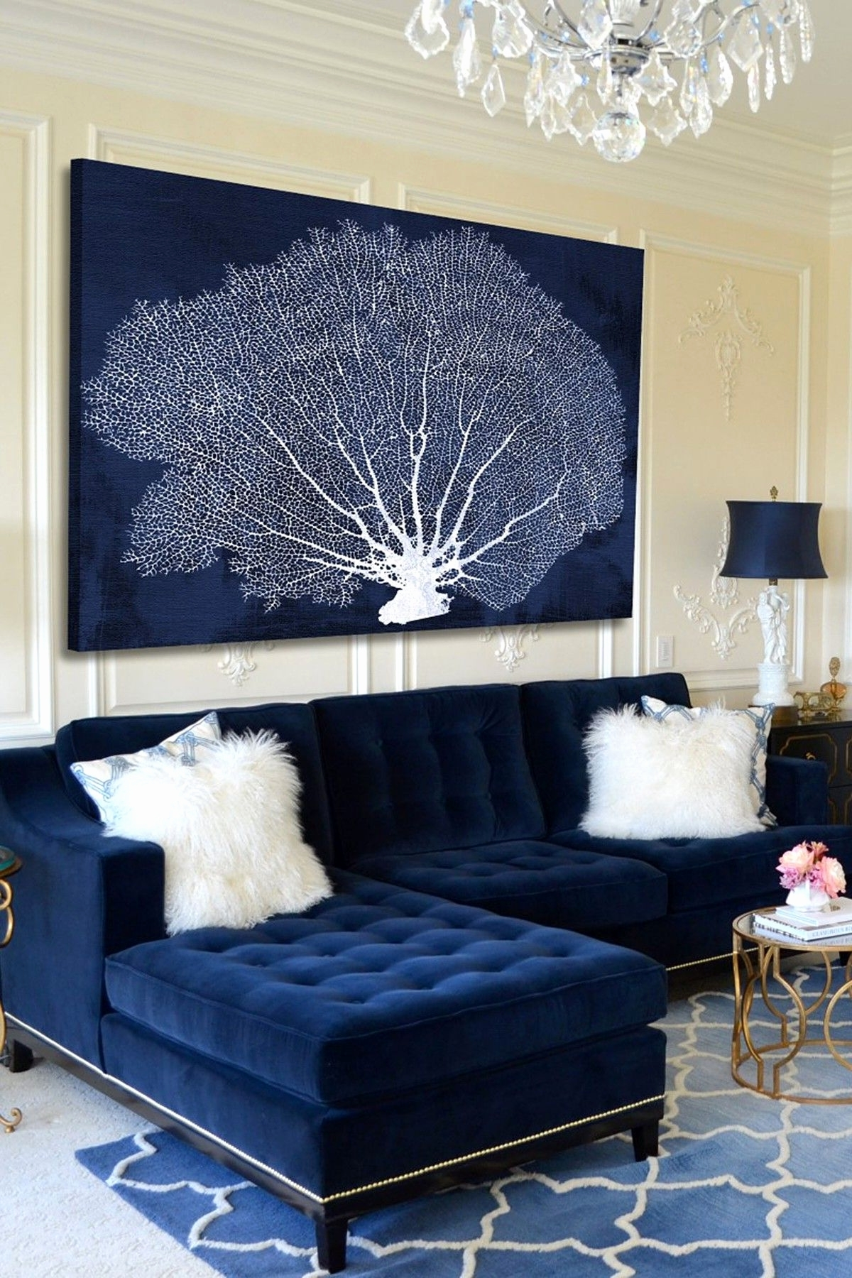 Most Recently Released Dark Blue Sofa Living Room Fantastic 25 Stunning Living Rooms With Intended For Dark Blue Sofas (View 10 of 15)