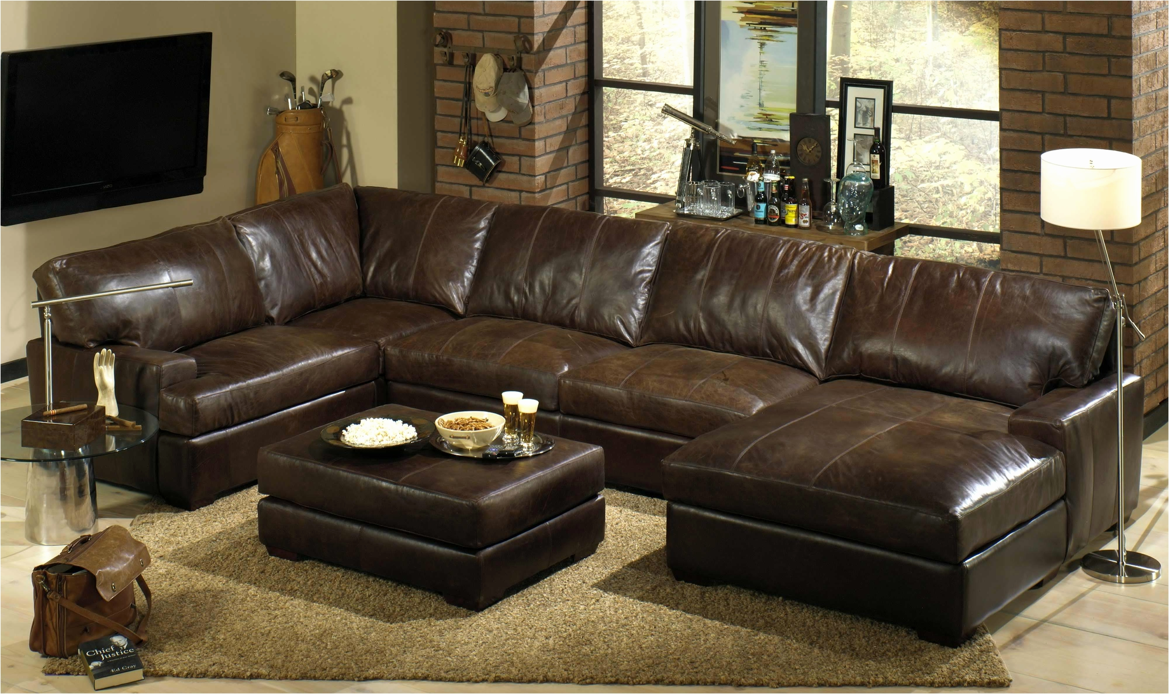 Most Recently Released Double Chaise Loveseat Leather Loveseat With Chaise Large With Regard To Leather Couches With Chaise (View 9 of 15)
