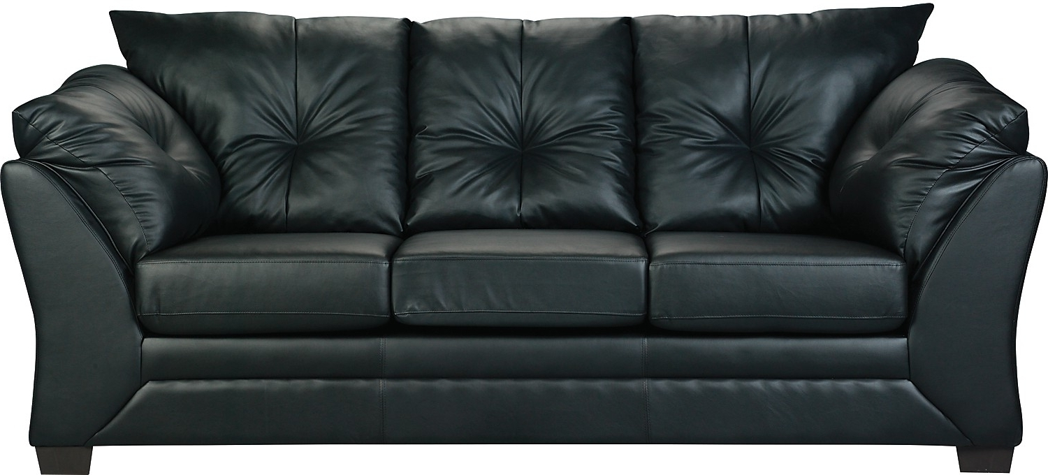 Most Recently Released Fancy Black Faux Leather Sofa 97 On Sofas And Couches Ideas With Pertaining To The Brick Leather Sofas (View 5 of 15)