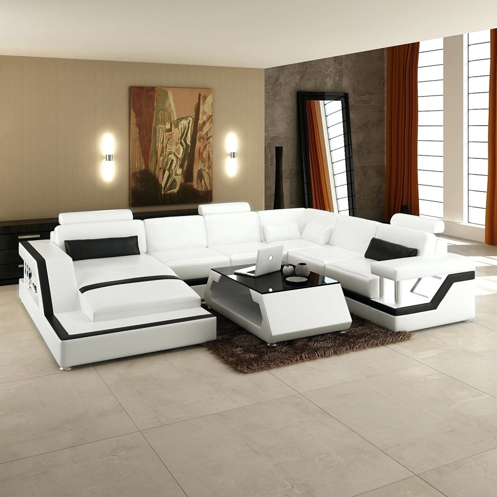 Most Recently Released Furniture: Microsuede Sectional Awesome Modern Sectional Sofa Grey Regarding Oshawa Sectional Sofas (View 5 of 15)