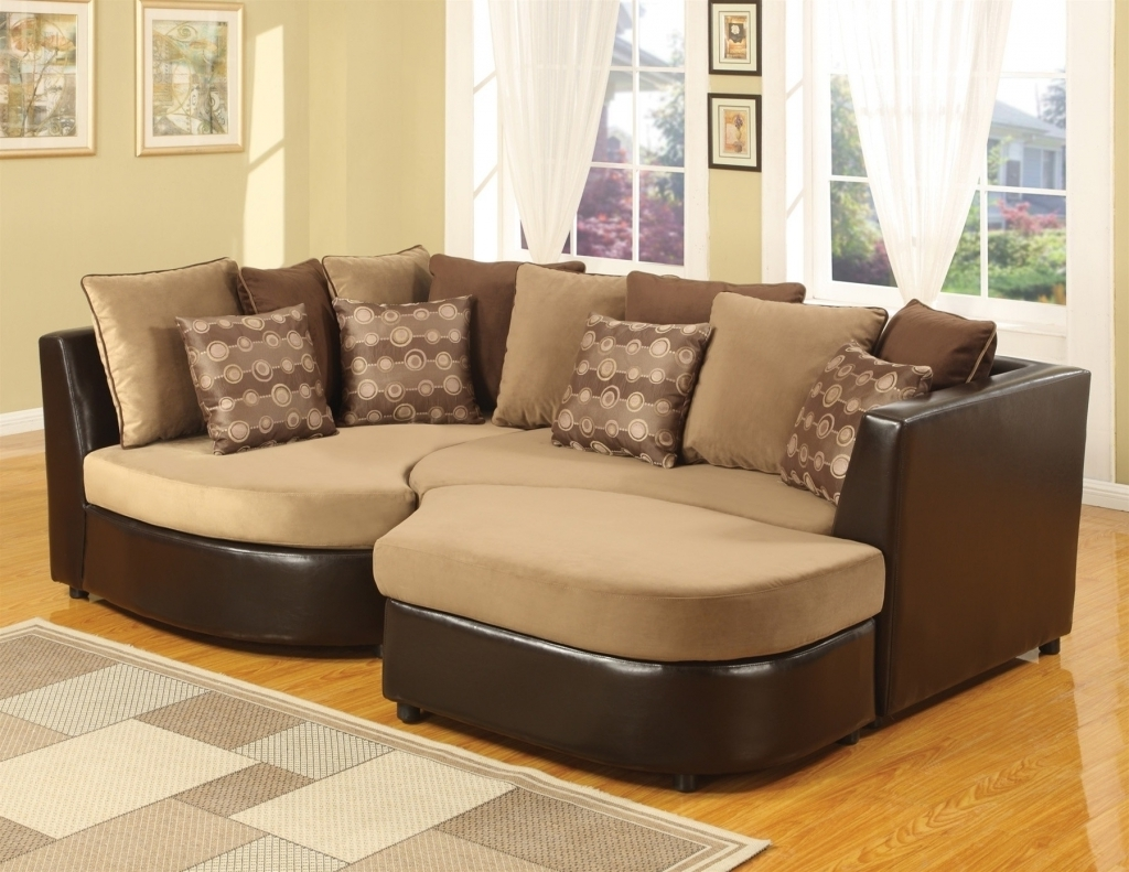 Most Recently Released Furniture: Microsuede Sectional Unique Stylish Leather And Suede For Oshawa Sectional Sofas (View 3 of 15)