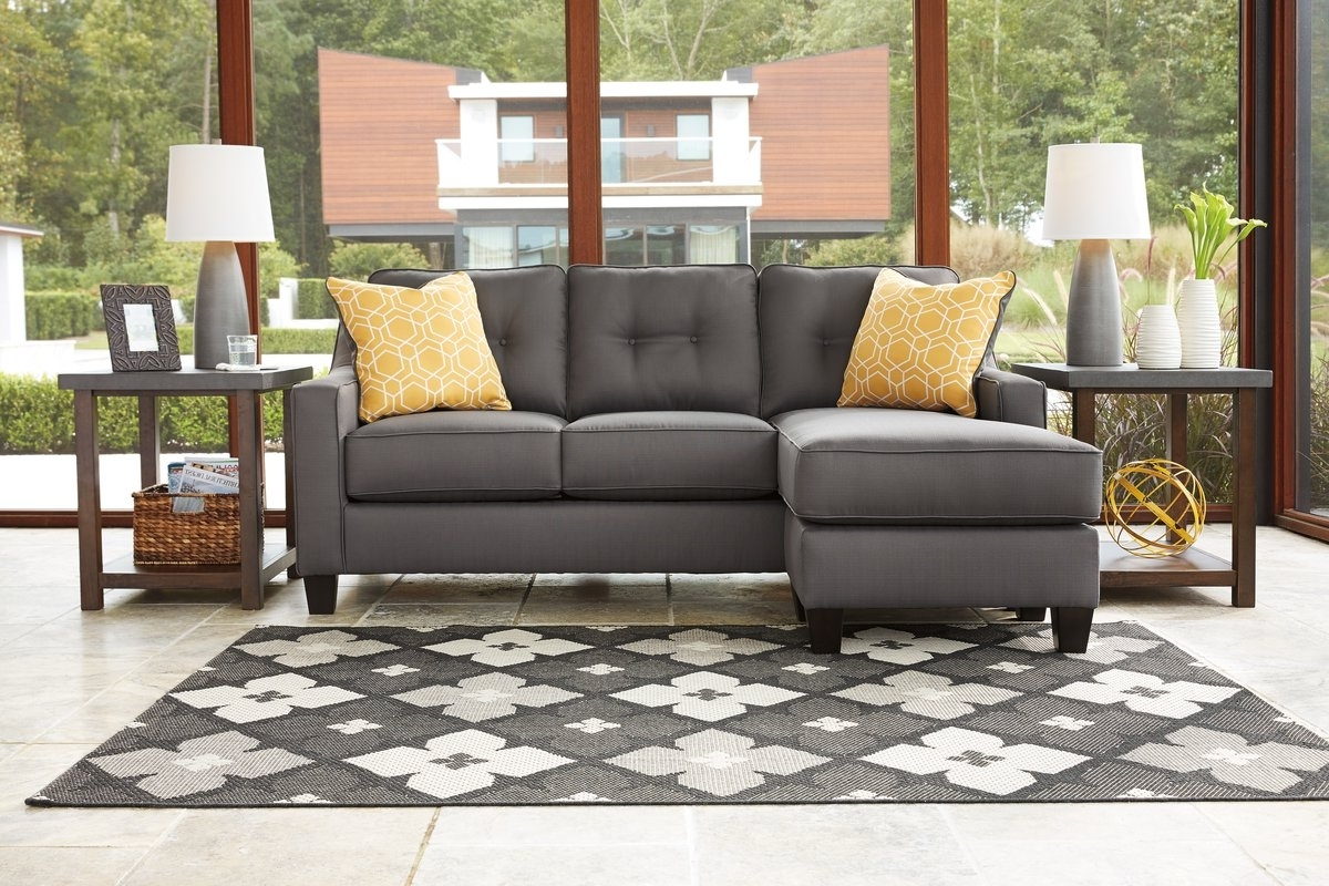 Most Recently Released Gray Sofa With Chaise Intended For Benchcraft Aldie Reversible Sectional With Ottoman & Reviews (View 14 of 15)