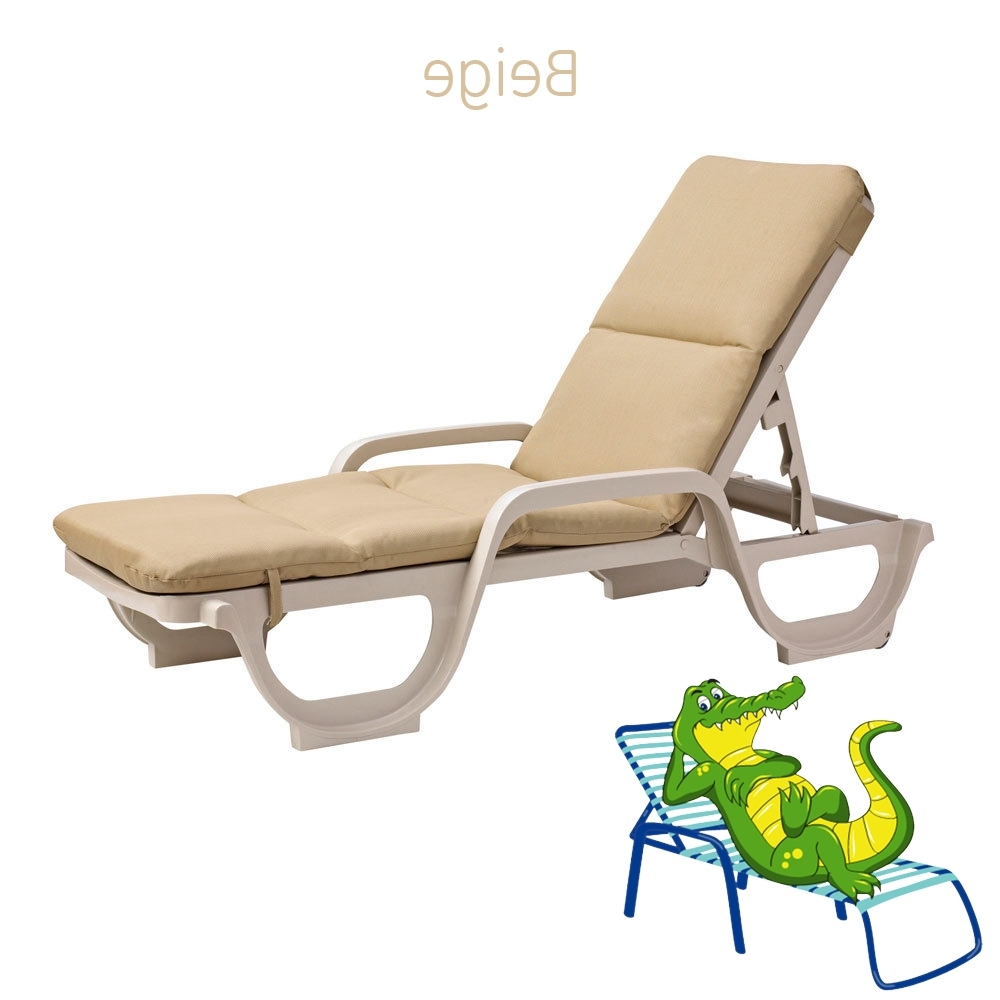 Most Recently Released Grosfillex Chaise Lounge Chairs Within Cushion For Grosfillex Chaise Lounge Chair – Cushion Only (View 10 of 15)