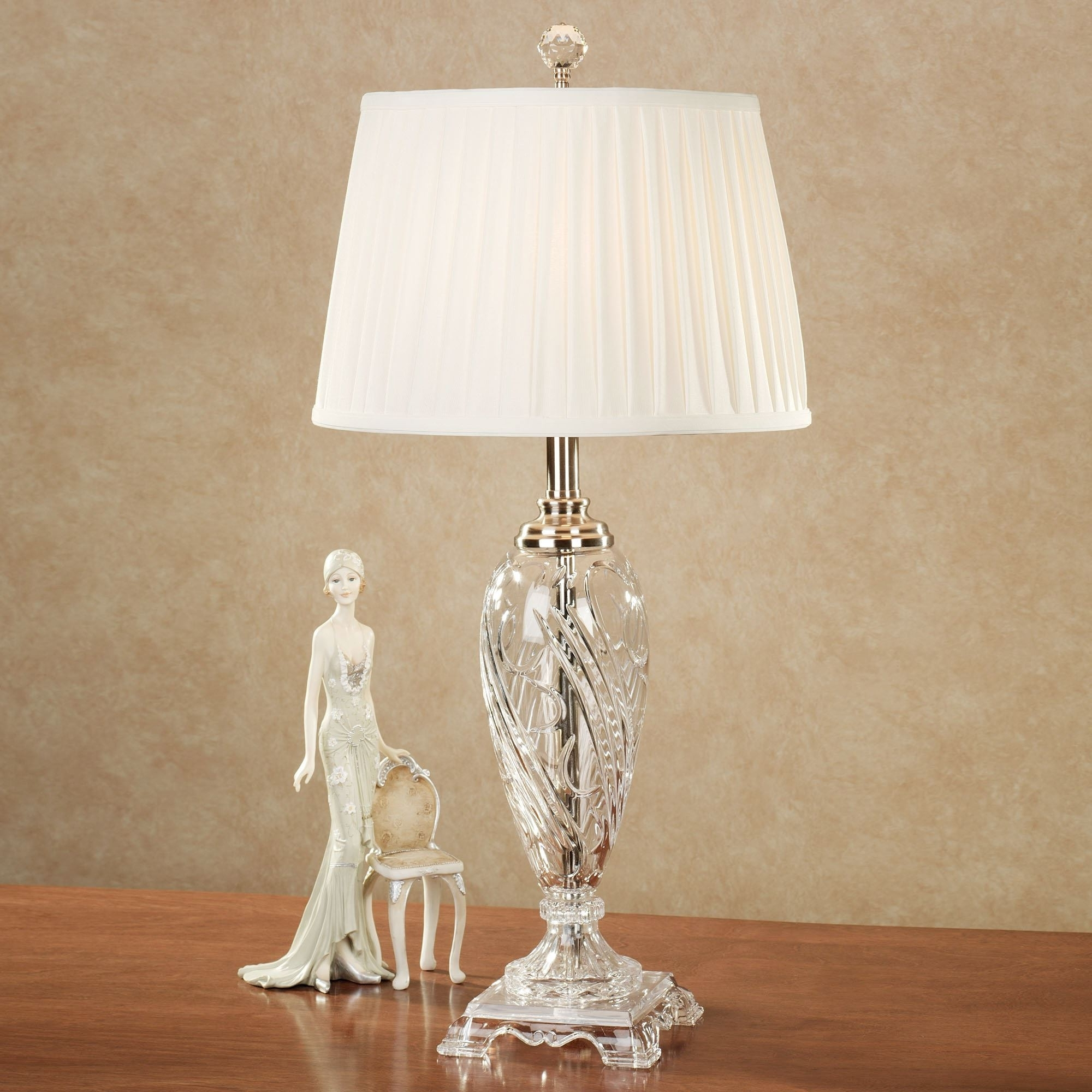 Most Recently Released Home Decor: Fetching Crystal Table Lamps & Lamps Amazing Floor Lamp With Chandelier Night Stand Lamps (View 8 of 15)