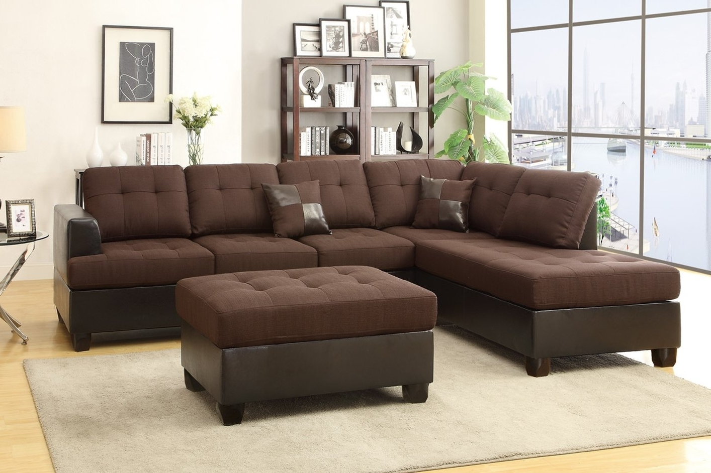 Most Recently Released Incredible Chocolate Polyfiber Leather Room To Go Sofas Polyfiber Inside Rooms To Go Sectional Sofas (View 15 of 15)