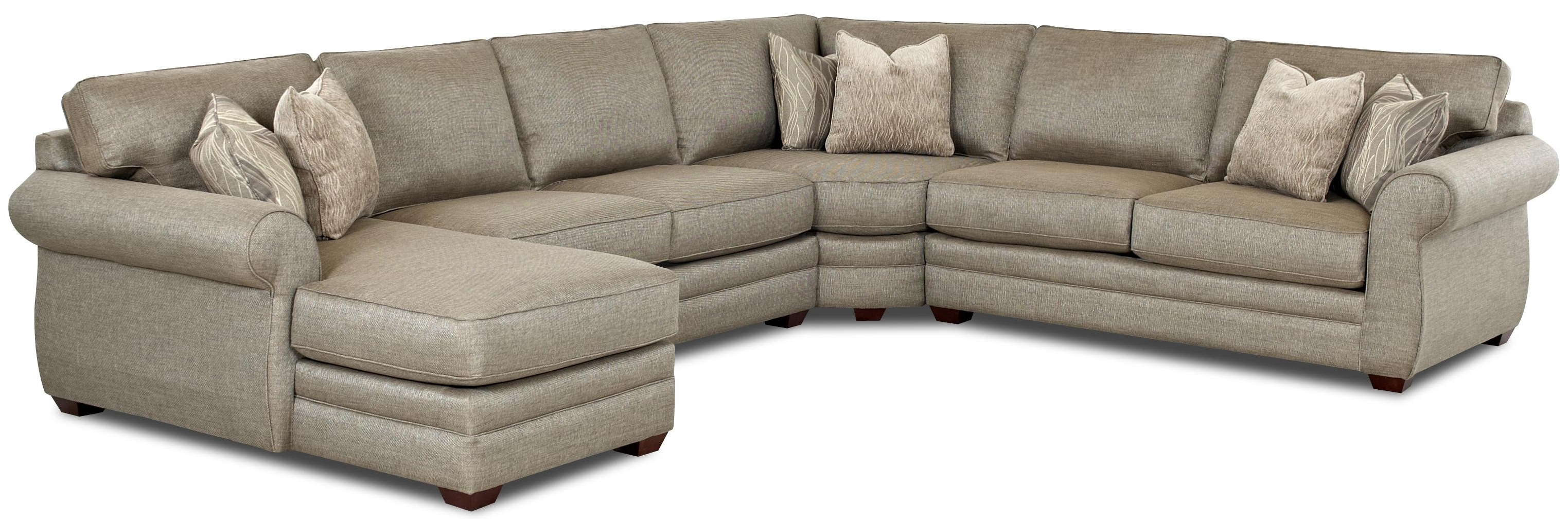 Most Recently Released Klaussner Clanton Transitional Sectional Sofa With Right Chaise Inside Pittsburgh Sectional Sofas (View 7 of 15)