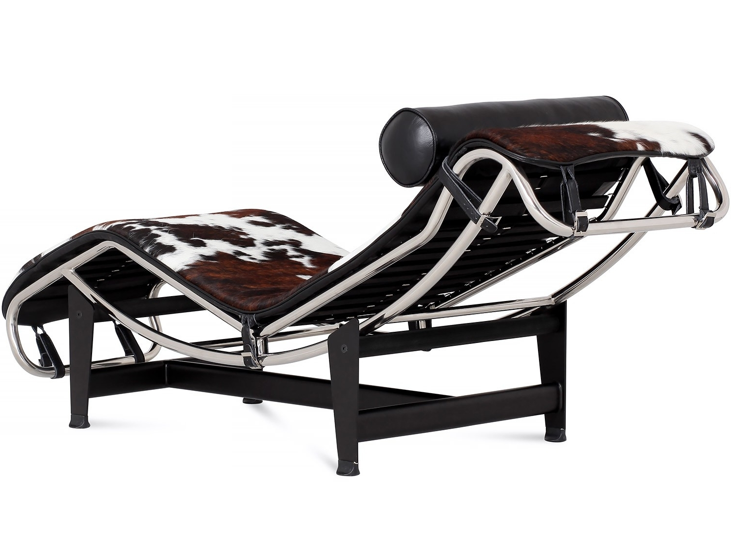 Most Recently Released Le Corbusier Chaise Lounges In Le Corbusier Lc4 Chaise Longue Cowhide (Platinum Replica) (View 11 of 15)