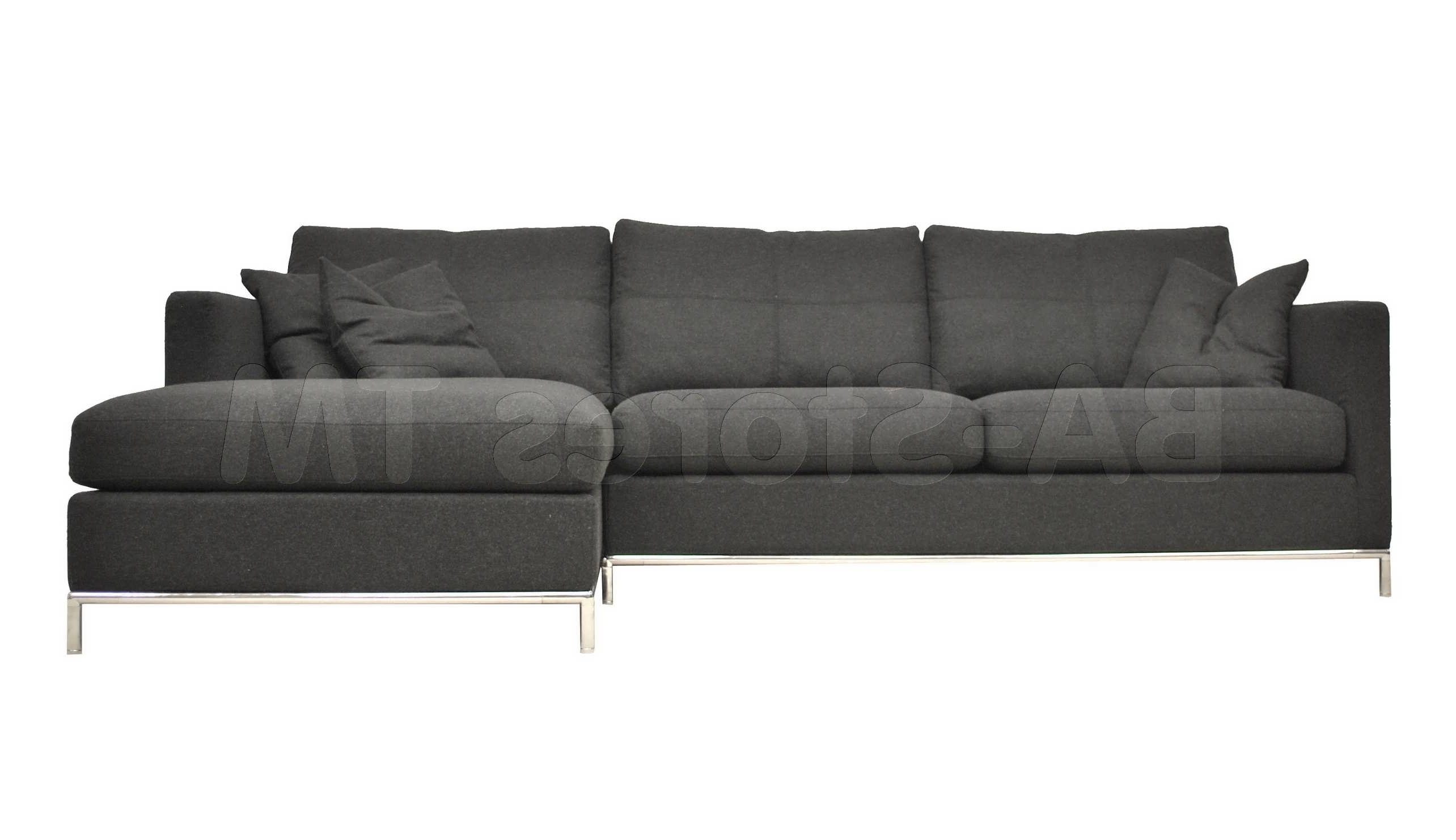 Most Recently Released Leather Sectional Chaises In Sofa : Dark Grey Sectional Couch Small Gray Sectional Charcoal (View 10 of 15)