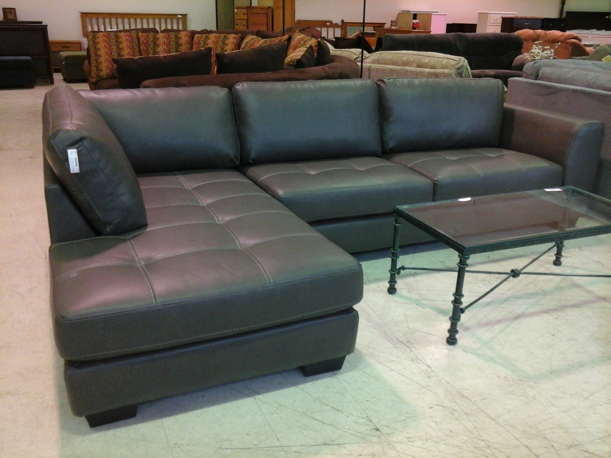 Most Recently Released Living Room Design: Classy Black Leather Sectional For Elegant Within Black Leather Sectionals With Chaise (View 10 of 15)