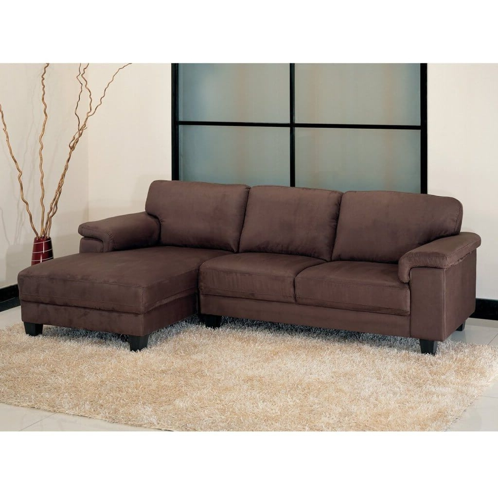 Most Recently Released Living Room: Microsuede Sectional – 1 – Microsuede Sectional Inside Sectional Sofas At Barrie (View 8 of 15)
