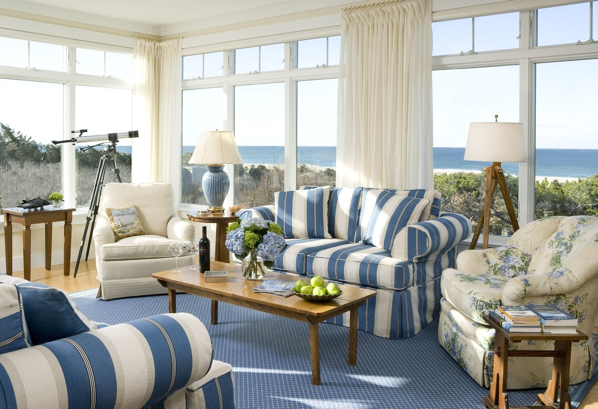 Most Recently Released Livingroom : Adorable Enamour Blue Living Room Ideas Also Classic In Striped Sofas And Chairs (View 6 of 15)