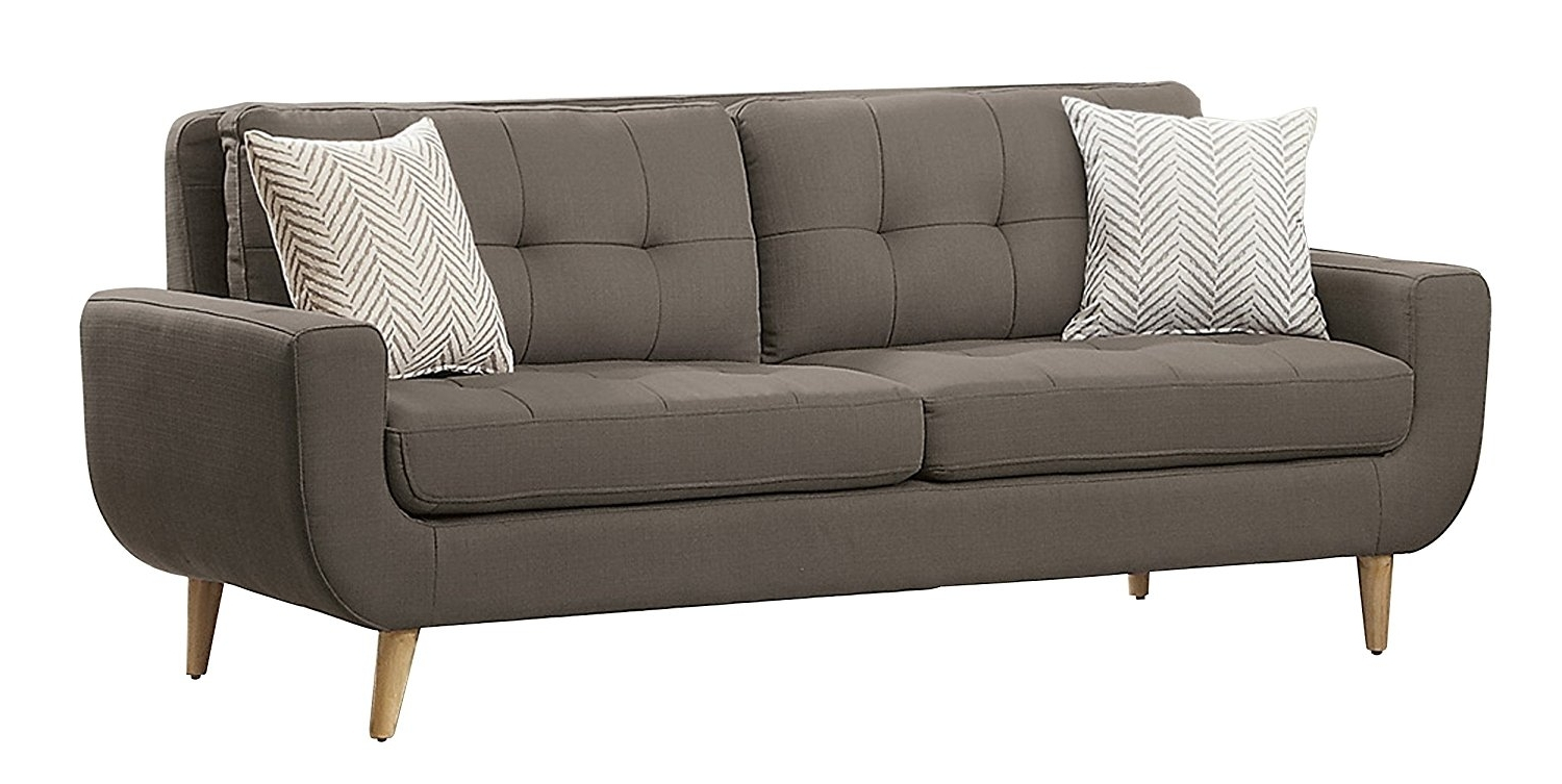 Most Recently Released Loveseats With Chaise Lounge Inside Furniture : Brooks Sofa Crate And Barrel Threshold Tufted Loveseat (View 8 of 15)